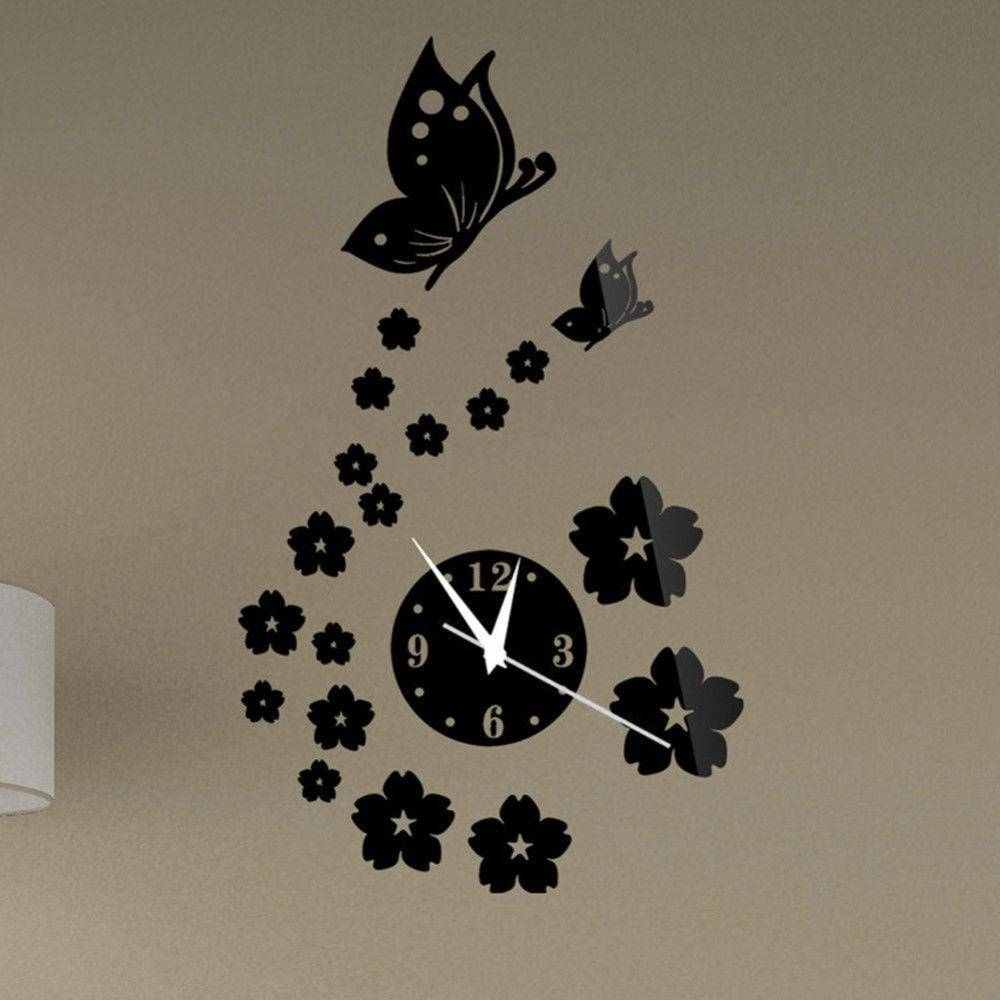 Compare Prices On Stickers Butterfly Wall Mirror- Online Shopping with regard to Butterfly Wall Mirrors (Image 9 of 25)