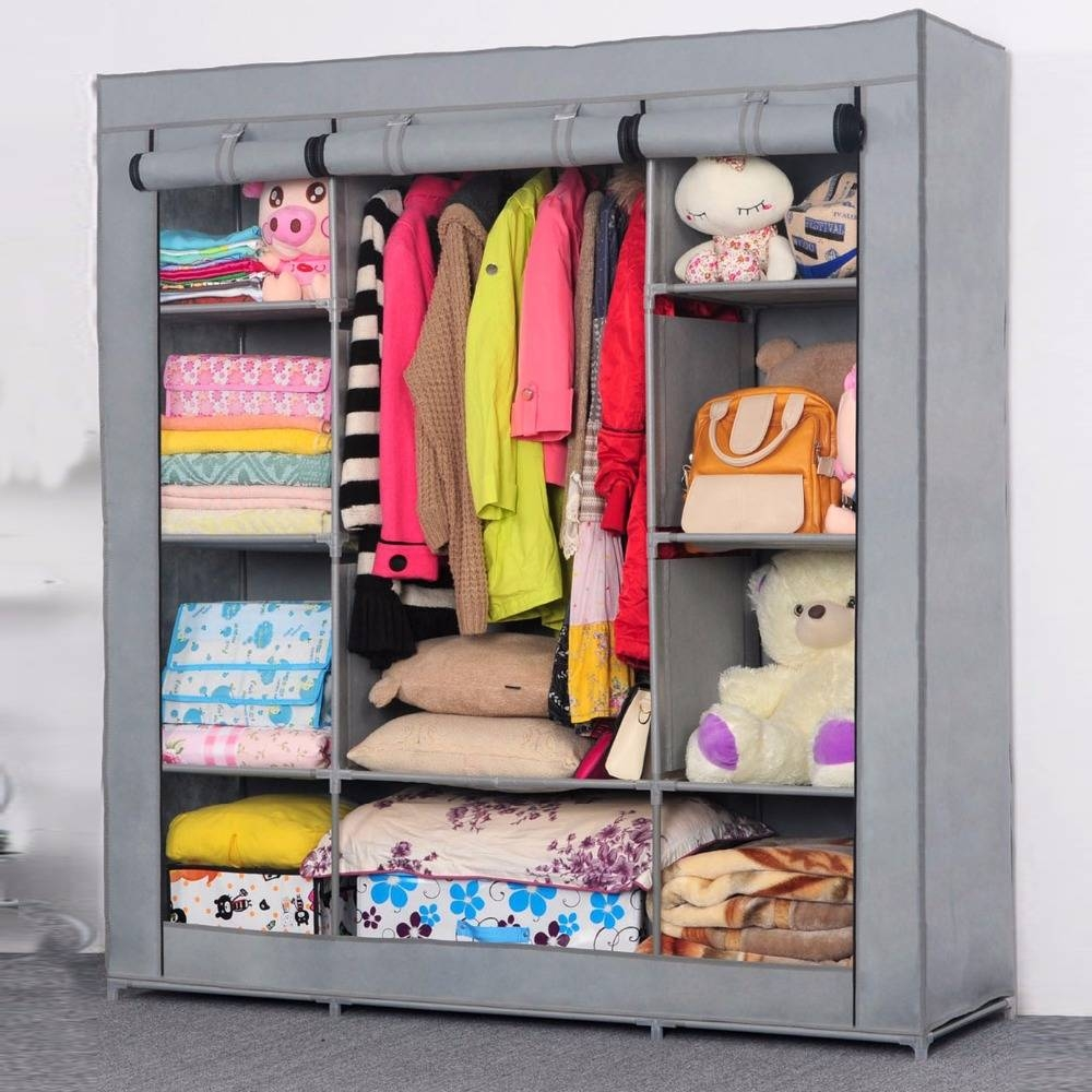 Compare Prices On Wardrobe Closet Cabinet Online Shopping/buy Low Intended For Low Cost Wardrobes (View 7 of 15)