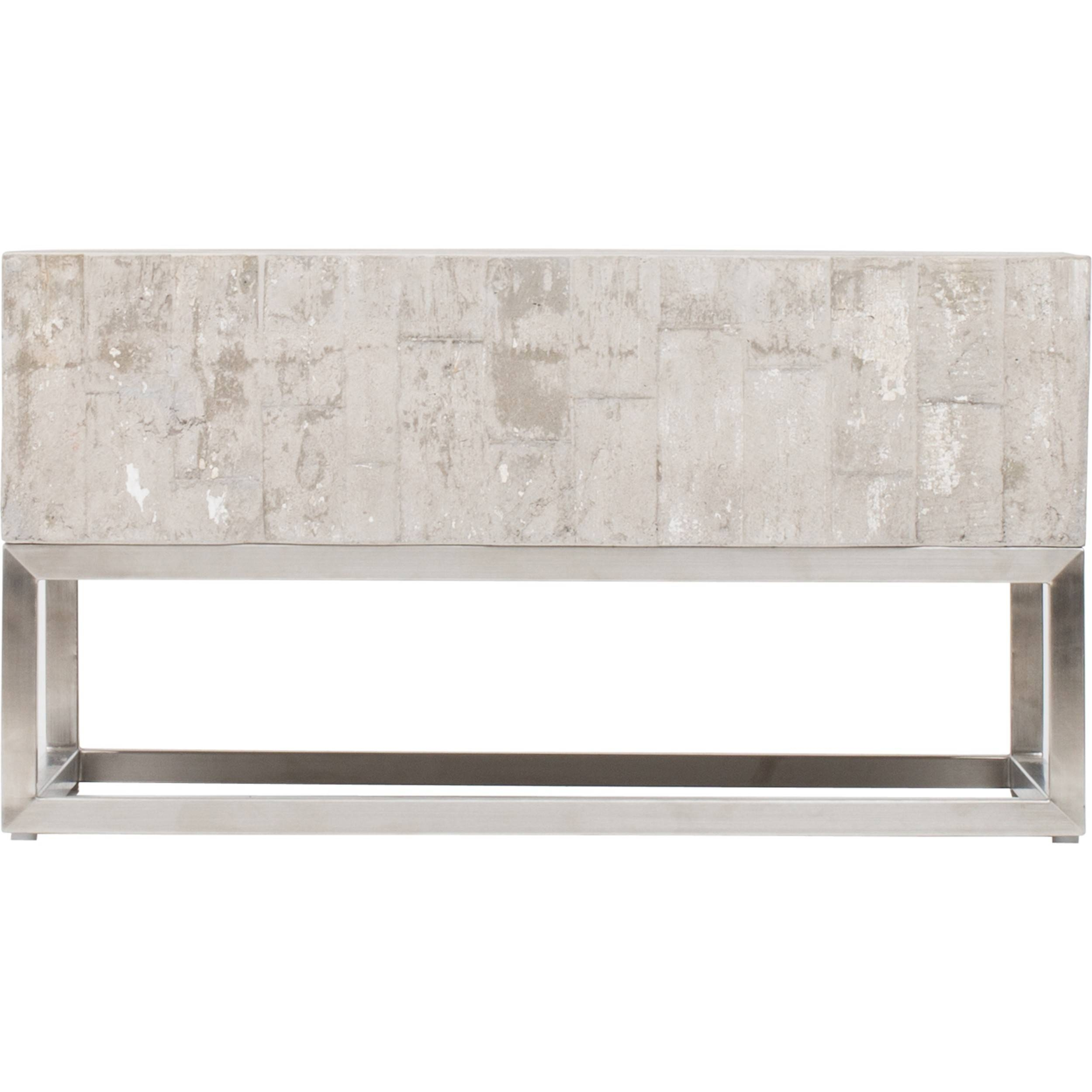 Concrete And Chrome Coffee Table – Coffee Tables – Accent Tables In Chrome Coffee Tables (View 7 of 30)