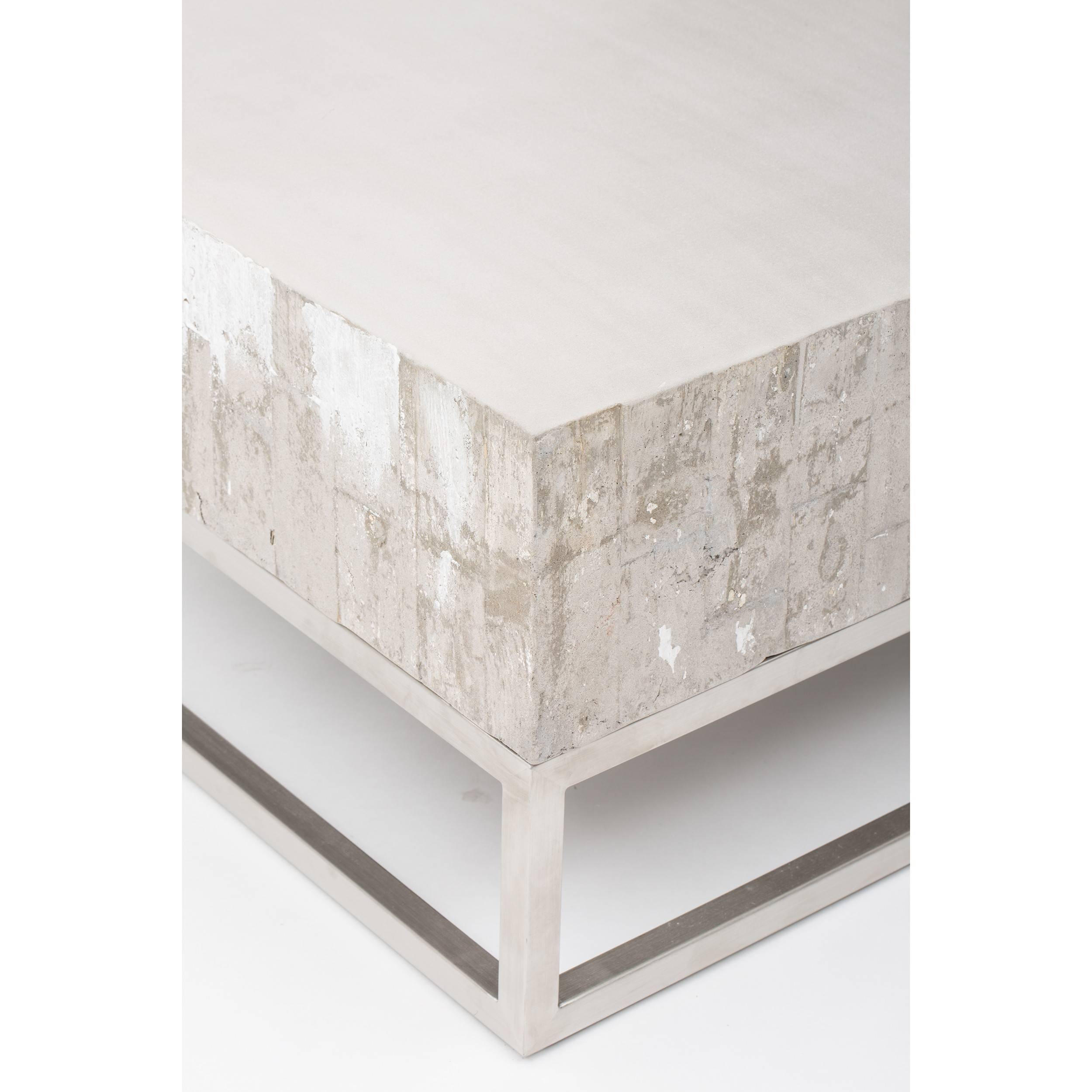 Concrete And Chrome Coffee Table - Coffee Tables - Accent Tables throughout Chrome Coffee Tables (Image 8 of 30)