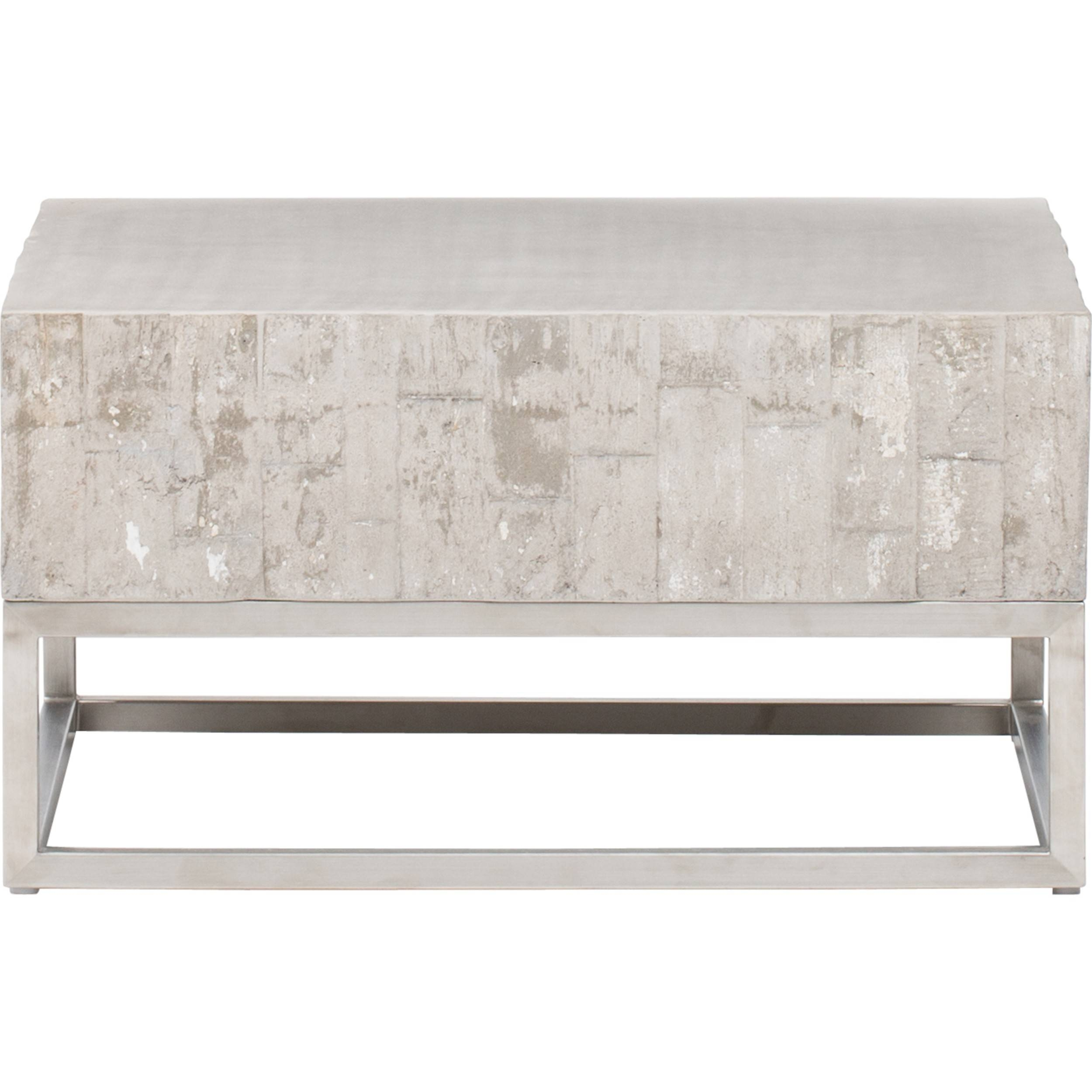 Concrete And Chrome Coffee Table - Coffee Tables - Accent Tables with Chrome Coffee Tables (Image 9 of 30)