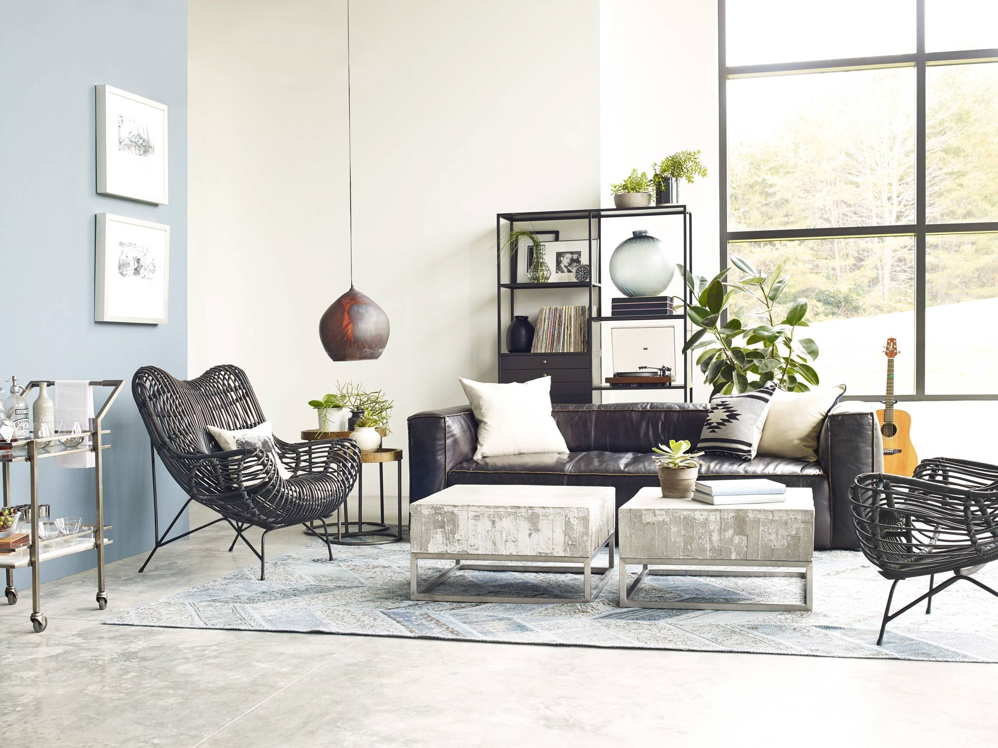 Concrete And Chrome Coffee Table | Industrial Home With Regard To Chrome Coffee Tables (View 13 of 30)