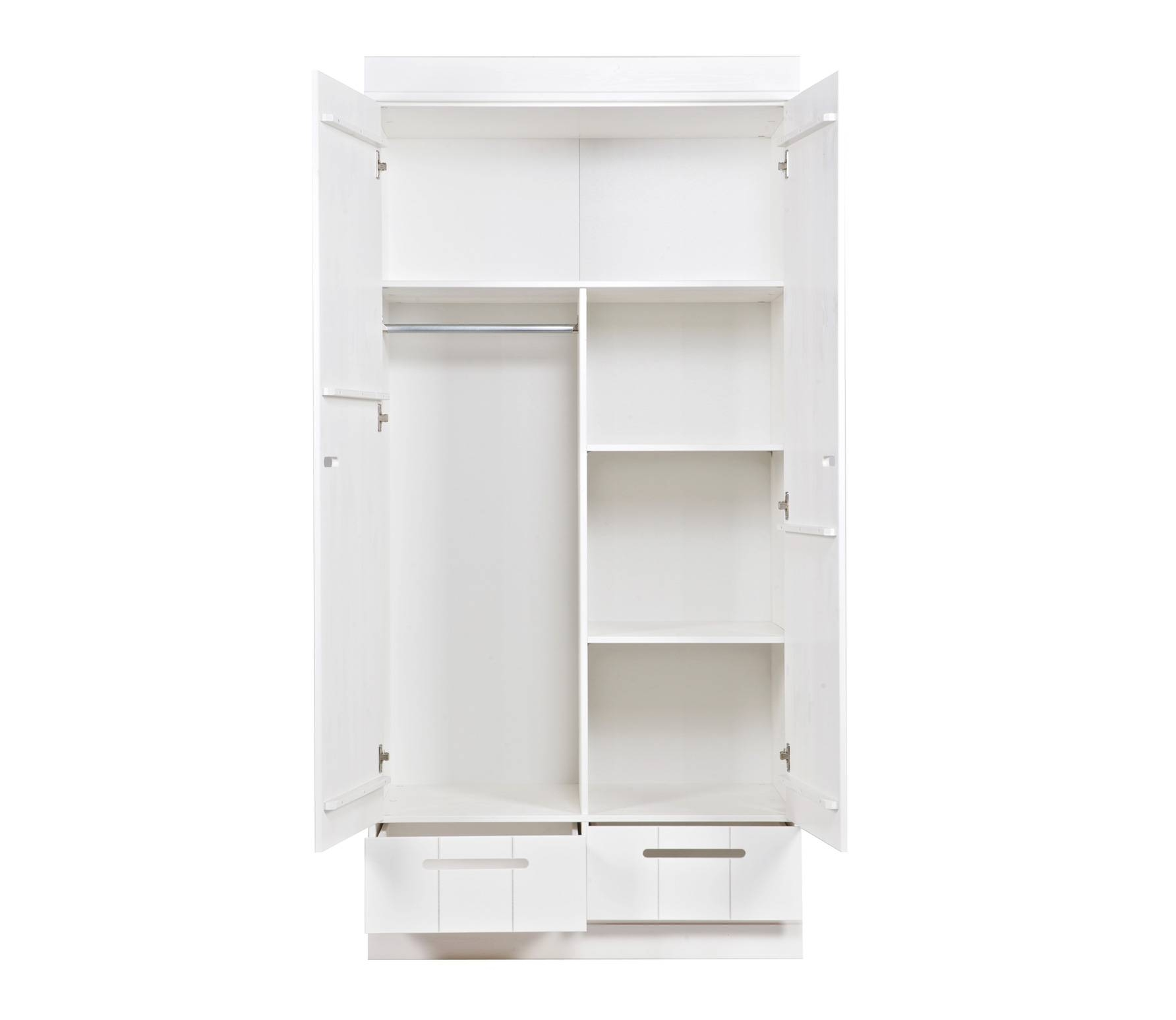 Connect 2-Door Locker Wardrobe With 2 Drawers, Additional Interior pertaining to White 2 Door Wardrobes With Drawers (Image 4 of 15)