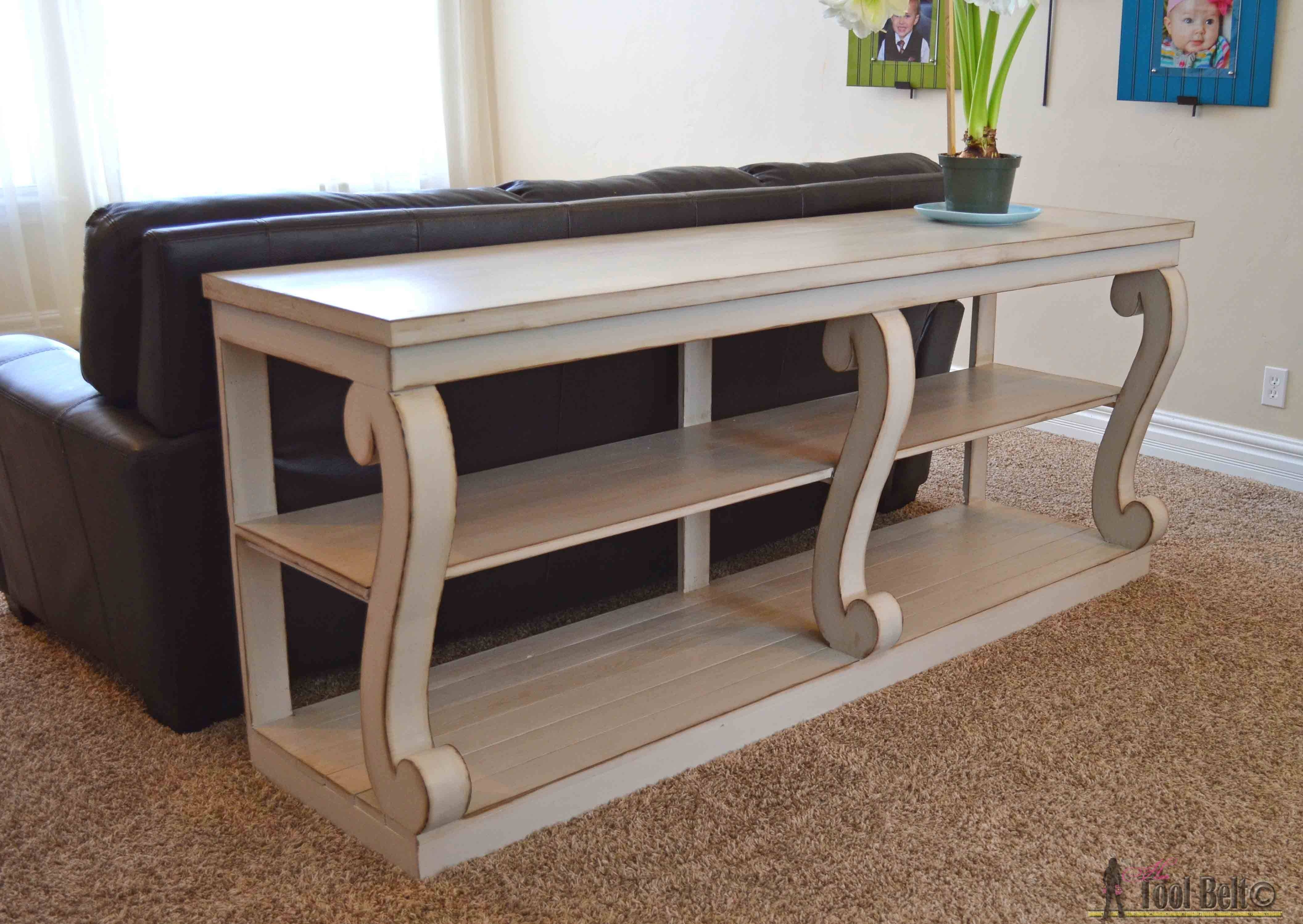 Console Table With Scroll Legs - Her Tool Belt in Sofa Back Console (Image 10 of 30)