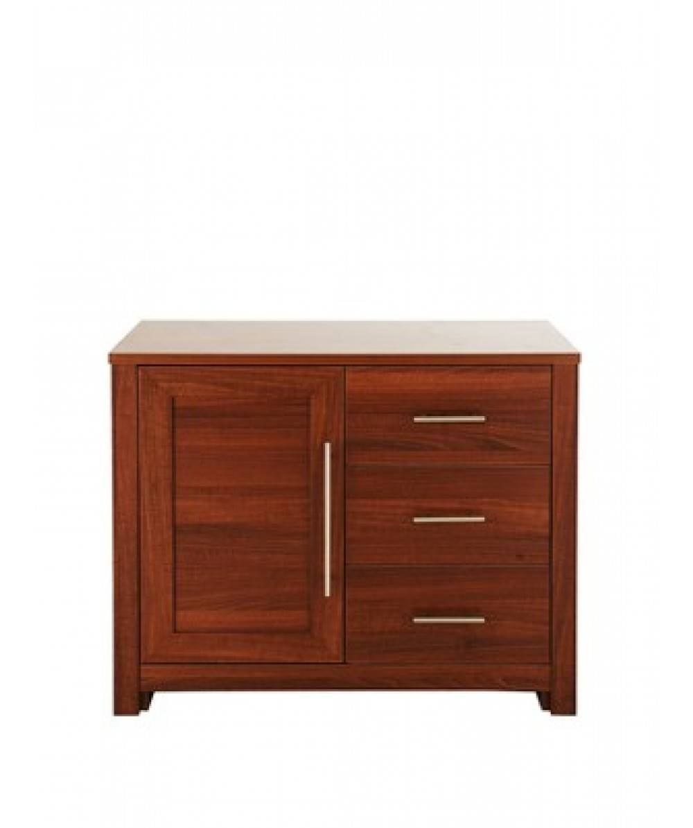 Consort Altima Ready Assembled 1-Door, 3-Drawer Sideboard inside Ready Assembled Sideboards (Image 9 of 30)