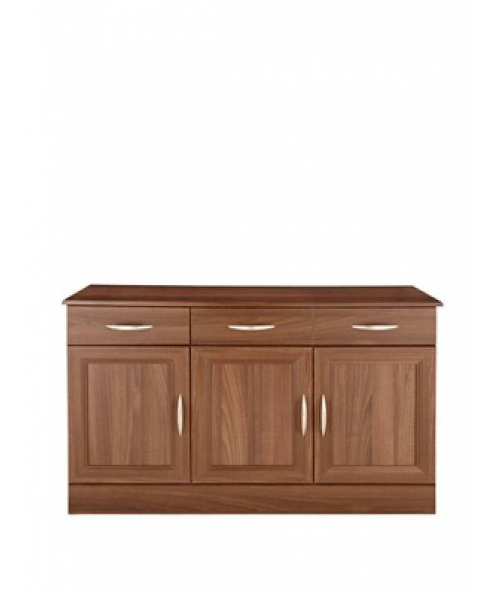 Consort Kensington Ready Assembled 3-Door Sideboard , Furniture Stores for Ready Assembled Sideboards (Image 10 of 30)