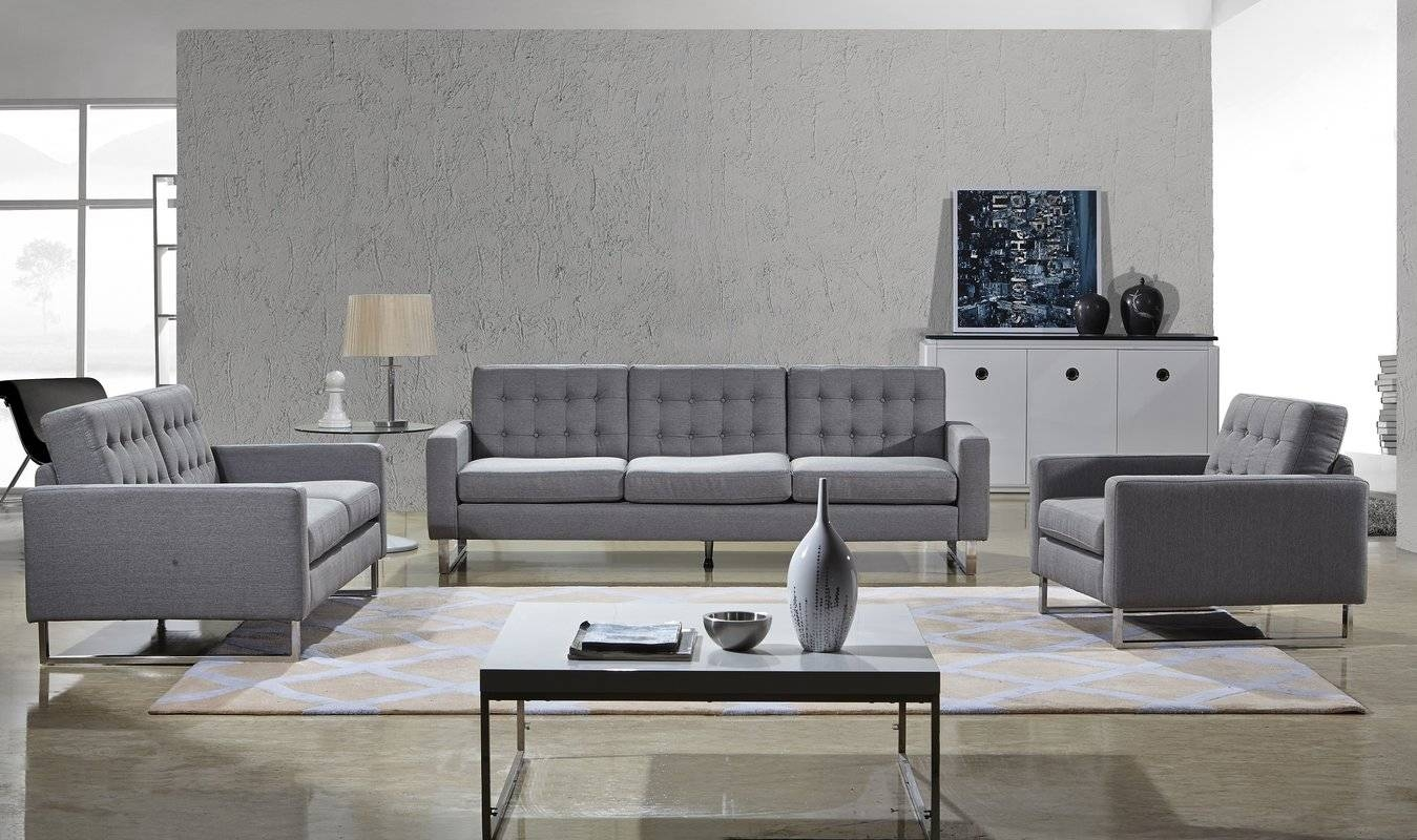 Container Angela Sofa, Loveseat And Chair Set & Reviews | Wayfair in Sofa Loveseat And Chair Set (Image 12 of 30)