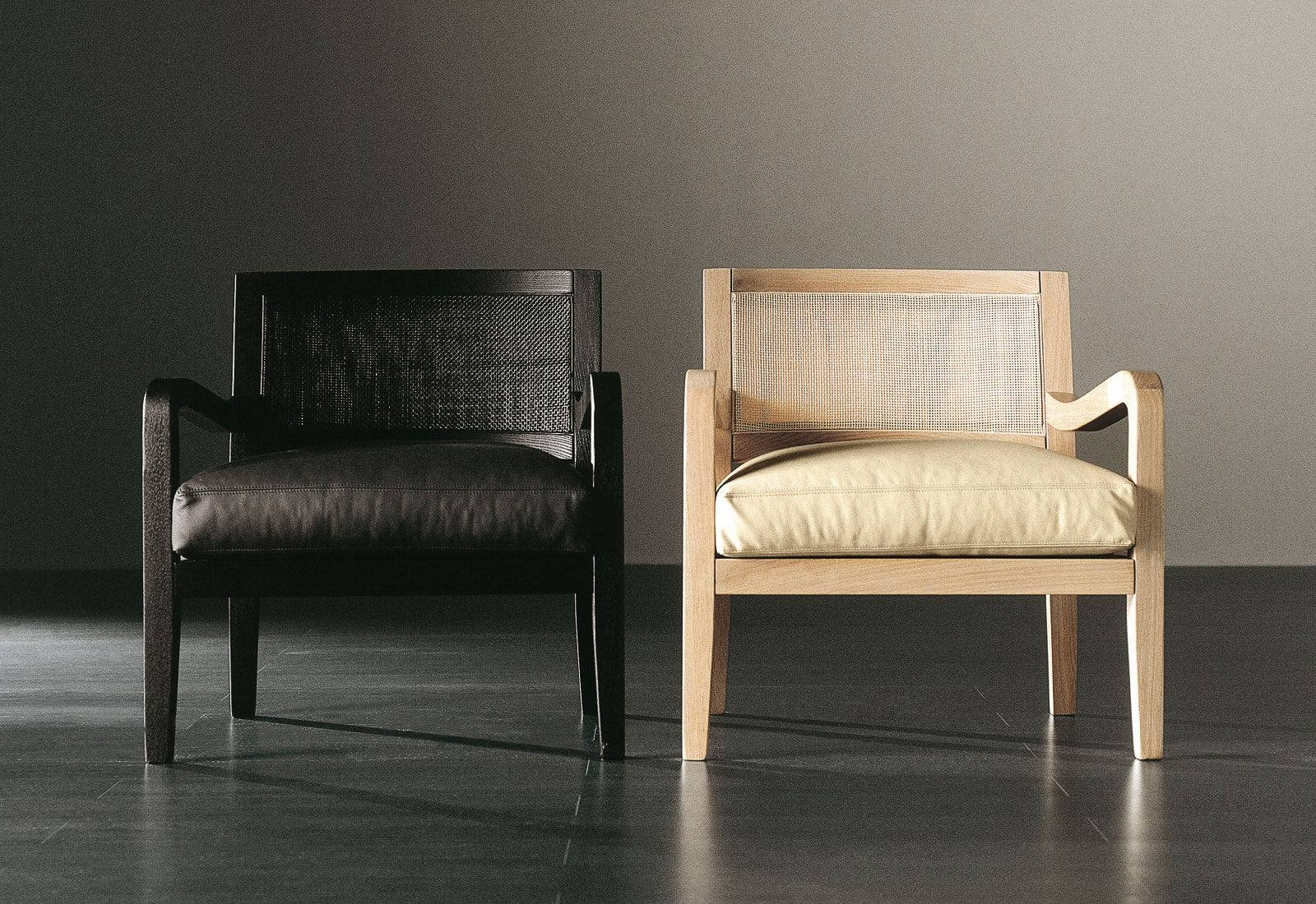 Contemporary Armchair / Wooden / Fabric - Forrest - Meridiani throughout Small Arm Chairs (Image 13 of 30)
