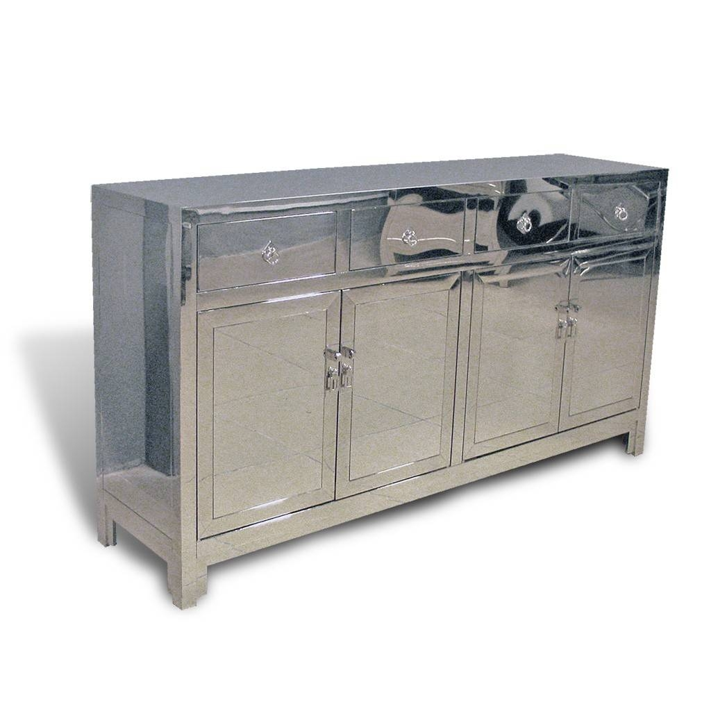 Contemporary Asian Stainless Steel Buffet In Chrome for Asian Sideboards (Image 19 of 30)