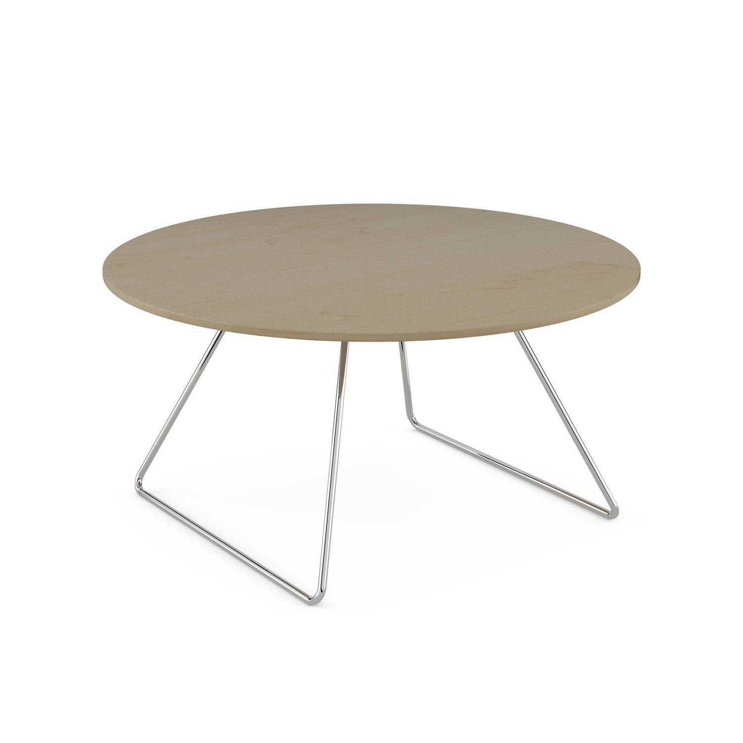 Contemporary Coffee Table / Beech / Round - Line - Komac within Round Beech Coffee Tables (Image 11 of 30)