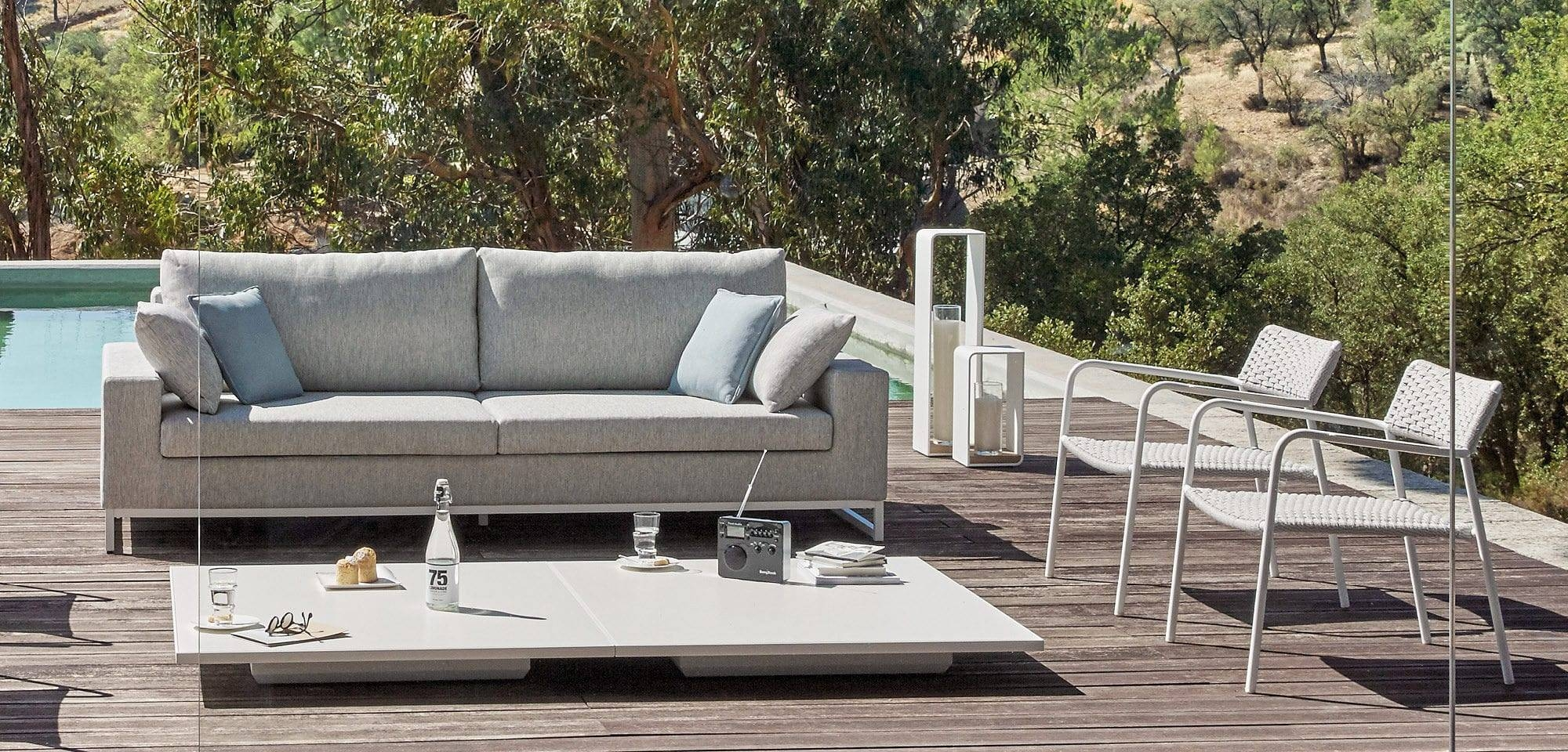 Contemporary Coffee Table / Glass / Aluminum / Hpl - Luna - Manutti within Luna Coffee Tables (Image 10 of 30)