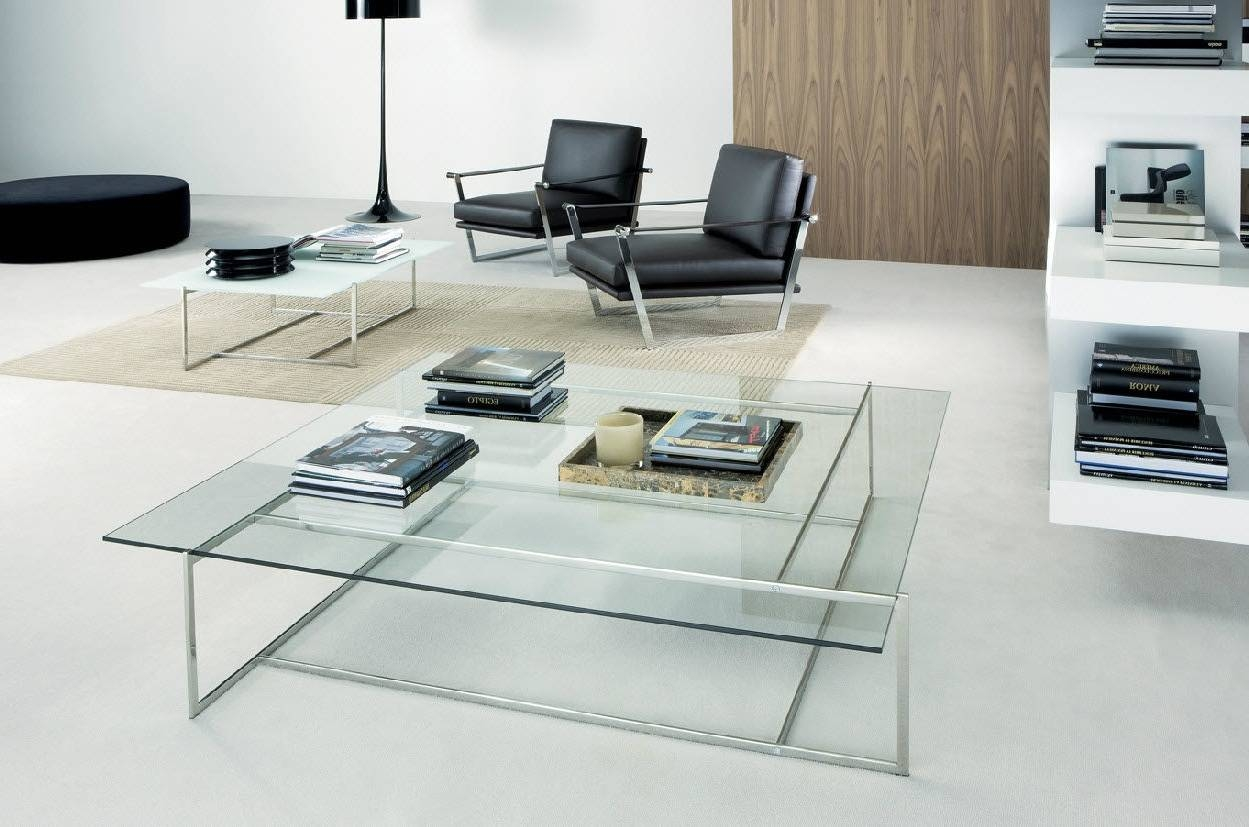 Contemporary Coffee Table Glass Modern Coffee Tables Square Coffee pertaining to Contemporary Coffee Table (Image 15 of 30)