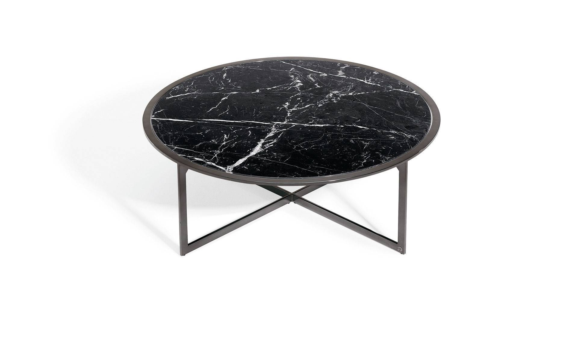 Contemporary Coffee Table / Glass / Natural Stone / Round - 1350-I pertaining to Contemporary Coffee Table (Image 4 of 30)