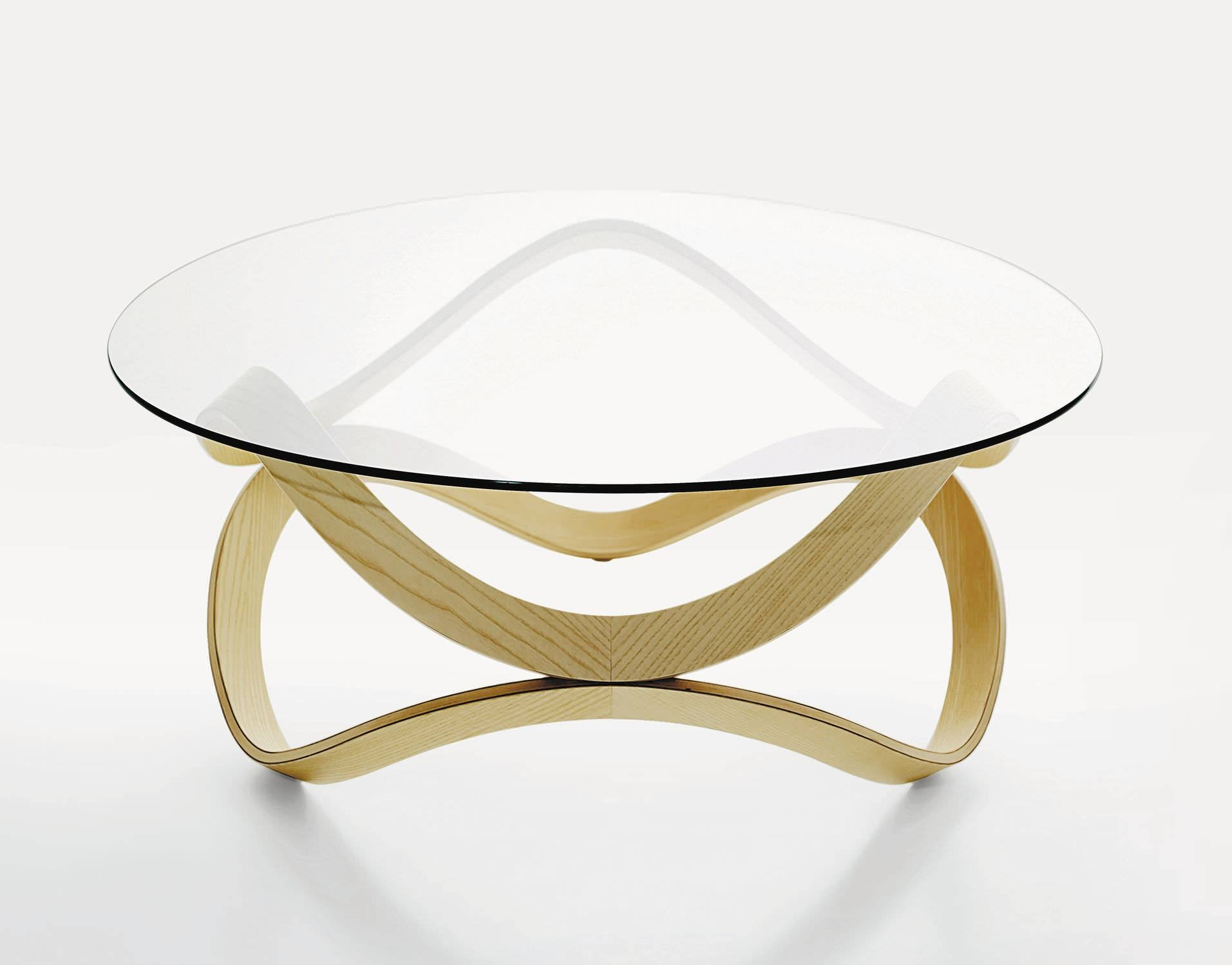 Contemporary Coffee Table / Glass / Oak / Ash - Newtond.sunaga regarding Contemporary Glass Coffee Tables (Image 14 of 30)