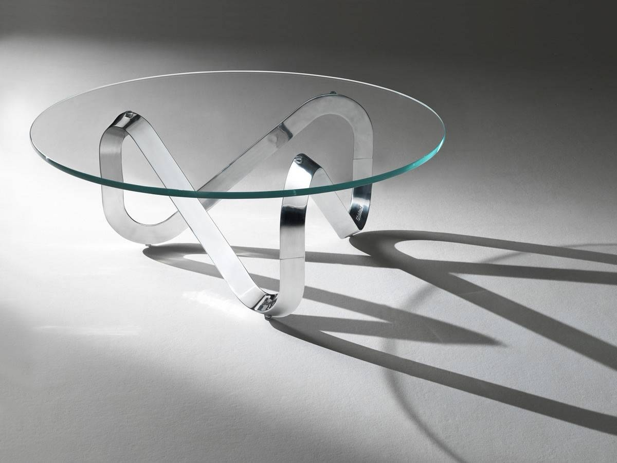 Contemporary Coffee Table / Glass / Round - Libraclaus Bertram in Contemporary Glass Coffee Tables (Image 15 of 30)