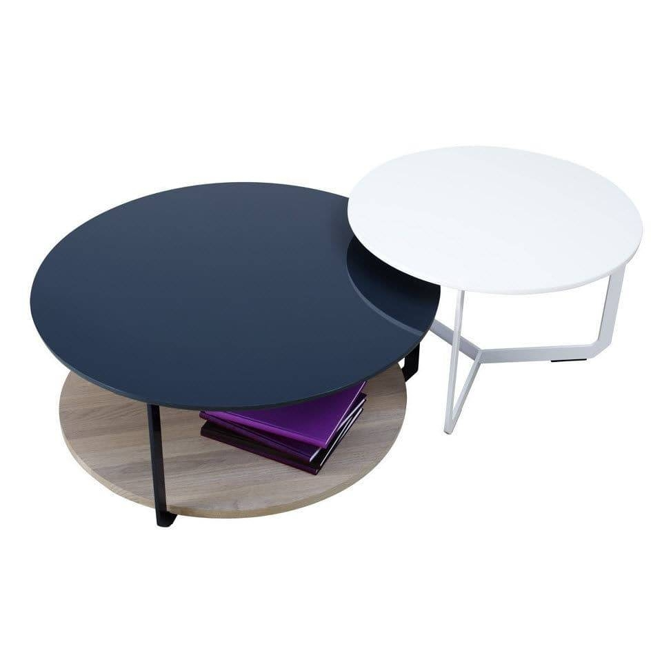Contemporary Coffee Table / Lacquered Mdf / Lacquered Metal regarding Blue Coffee Tables (Image 18 of 30)