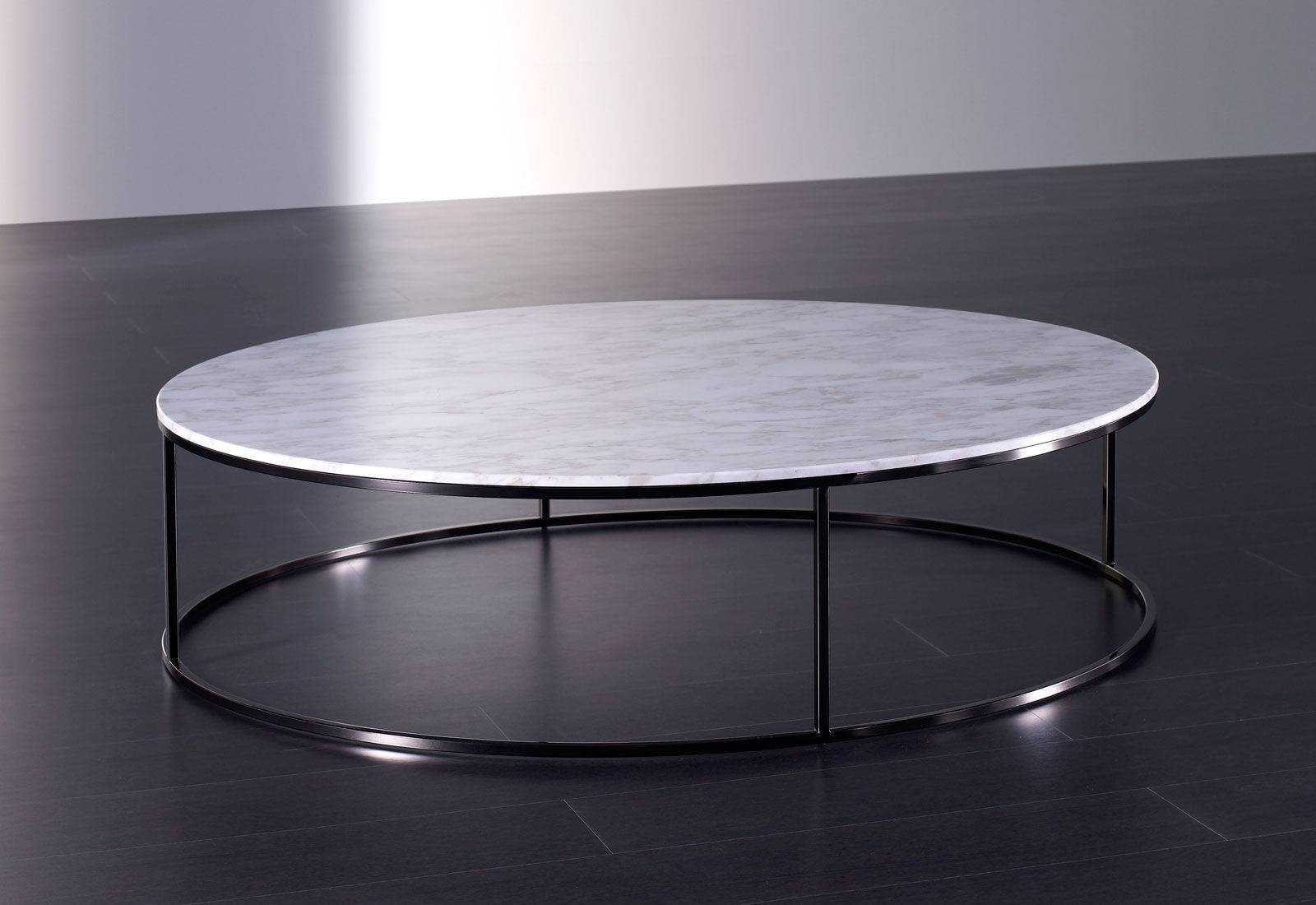 Contemporary Coffee Table / Marble / Round - Blom - Meridiani with regard to Marble Round Coffee Tables (Image 15 of 30)