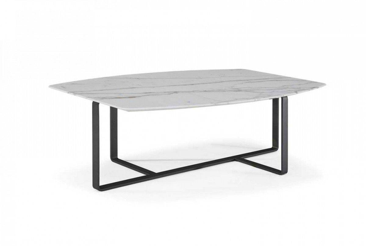 Contemporary Coffee Table / Metal / Marble / Oak - Tempo - Natuzzi inside Marble and Metal Coffee Tables (Image 9 of 30)