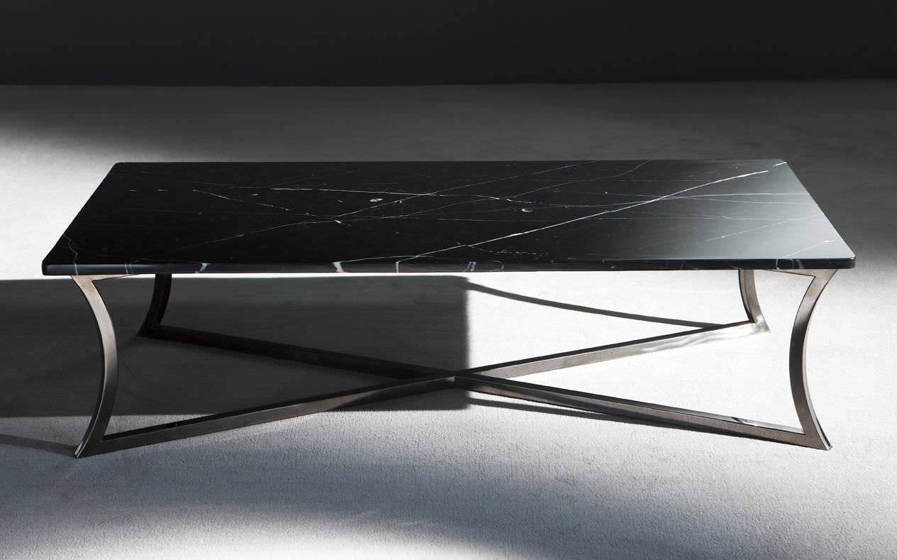 Contemporary Coffee Table / Metal / Marble / Rectangular - Austin intended for Marble And Metal Coffee Tables (Image 10 of 30)