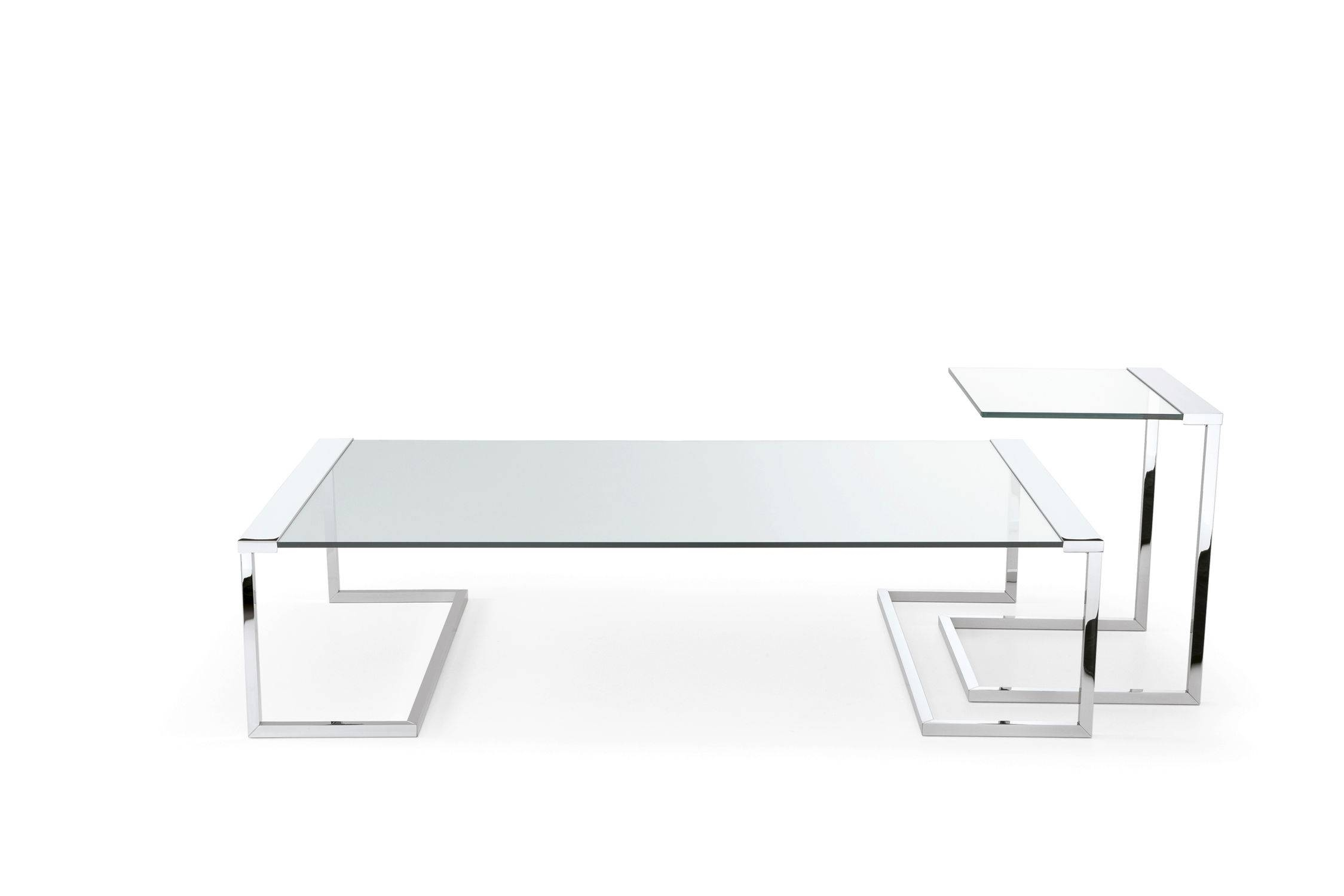 Contemporary Coffee Table / Metal / Tempered Glass / Rectangular within Transparent Glass Coffee Tables (Image 13 of 30)