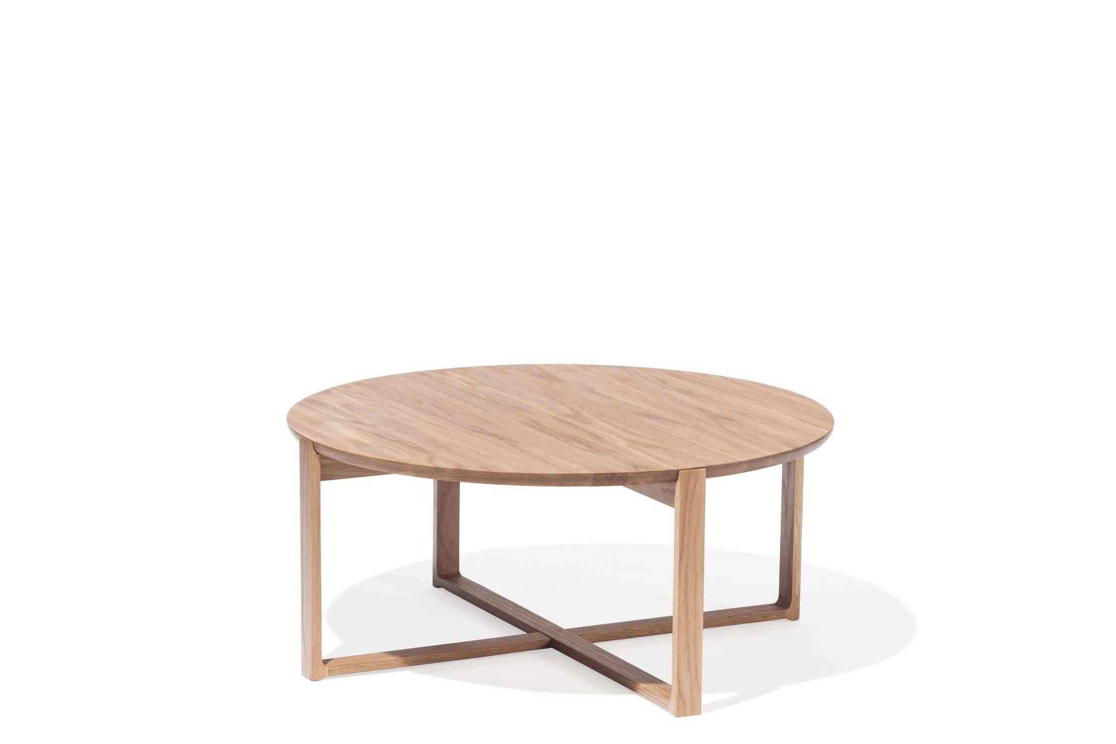 Contemporary Coffee Table / Oak / Beech / Round - Delta 723Kai pertaining to Round Oak Coffee Tables (Image 5 of 30)
