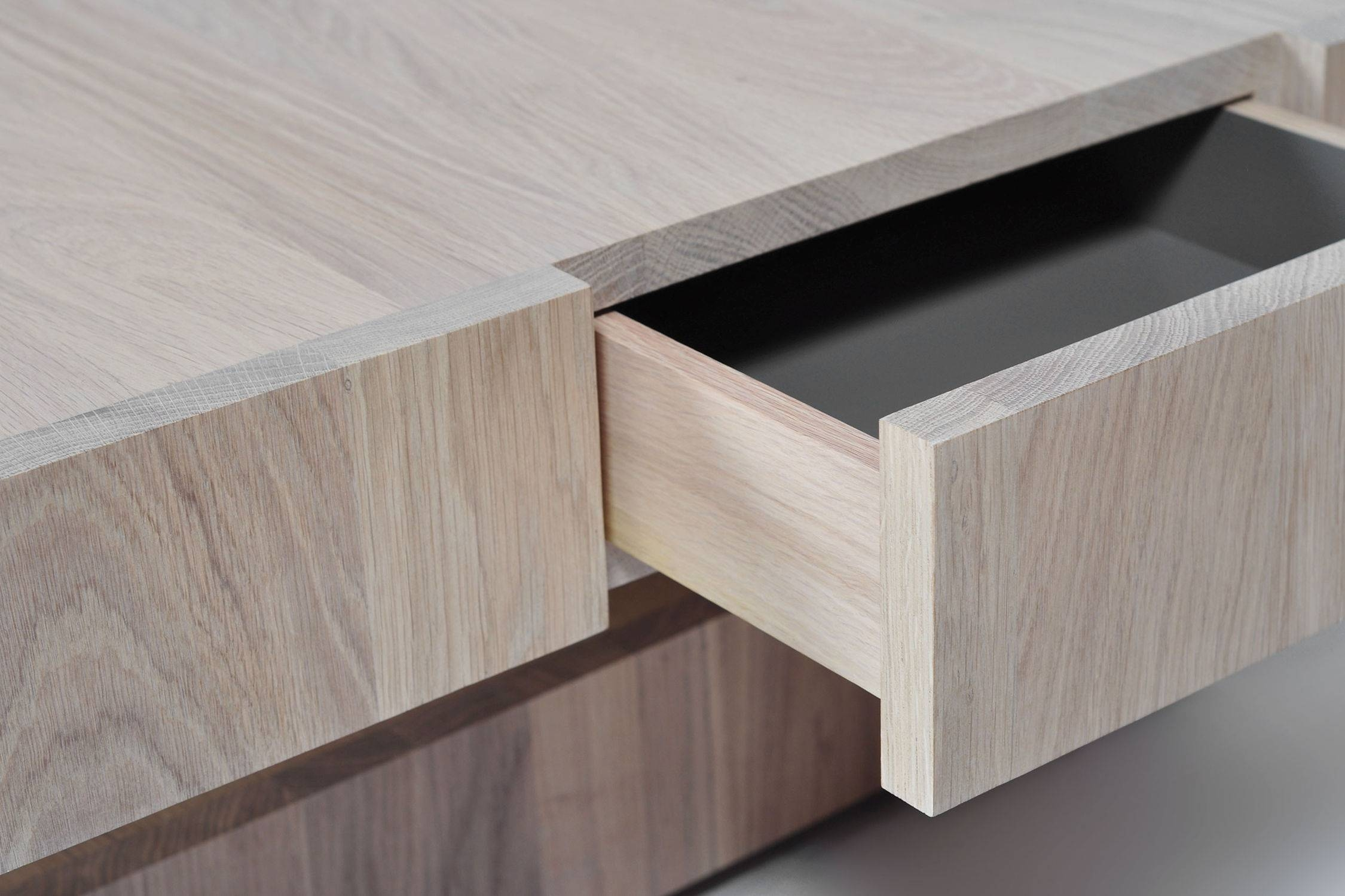 Contemporary Coffee Table / Oak / Square / With Storage with regard to Square Storage Coffee Tables (Image 15 of 30)