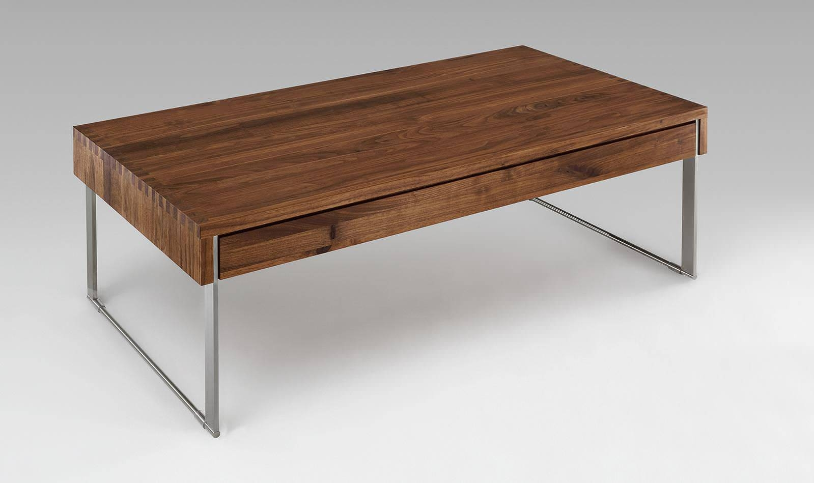 Contemporary Coffee Table / Solid Wood / Rectangular / With Drawer for Contemporary Coffee Table (Image 7 of 30)