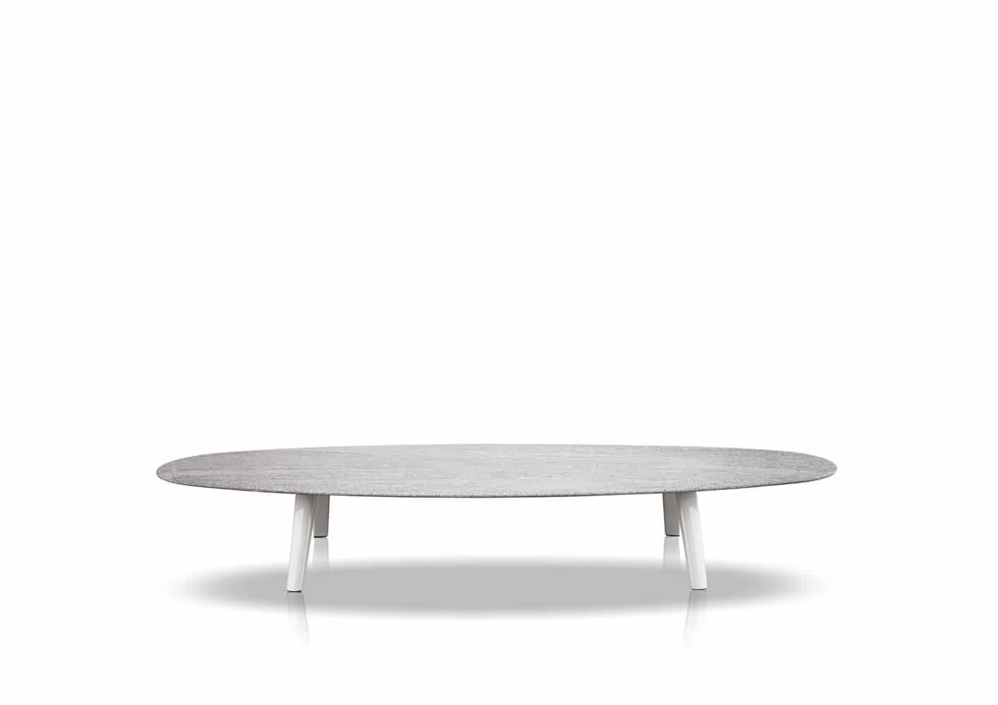 Contemporary Coffee Table / Stone / Oval / Garden - Sullivan - Minotti intended for Oval White Coffee Tables (Image 11 of 30)