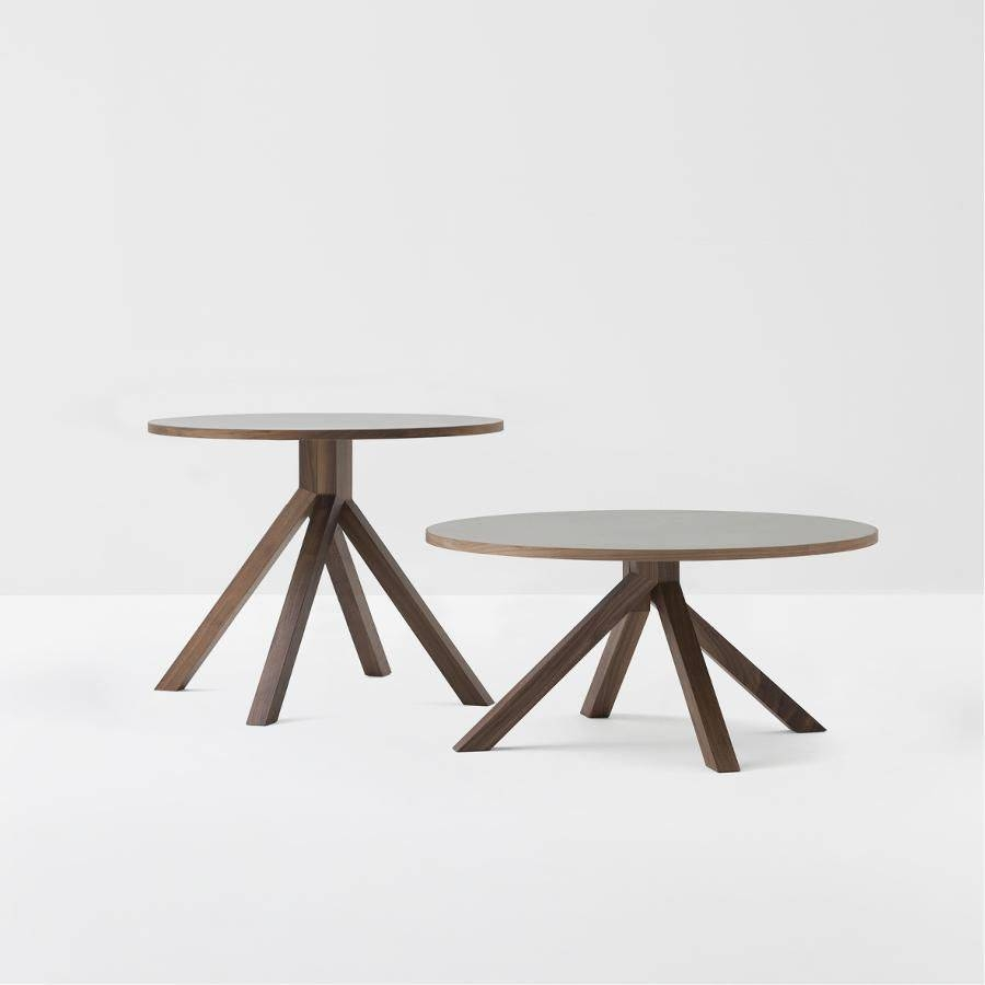 Contemporary Coffee Table / Walnut / Lacquered Wood / Beech with Round Beech Coffee Tables (Image 17 of 30)