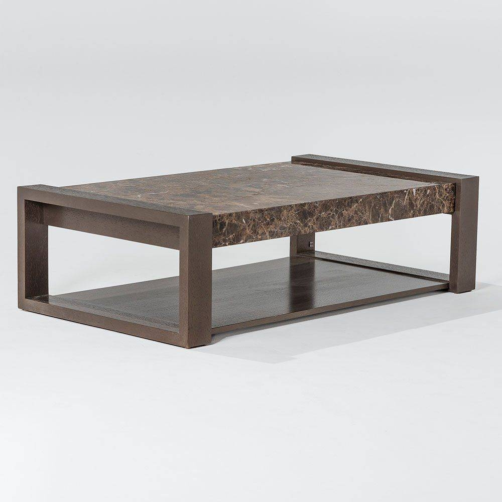 Contemporary Coffee Table / Wooden / Leather / Marble - Grafito in Soho Coffee Tables (Image 4 of 30)