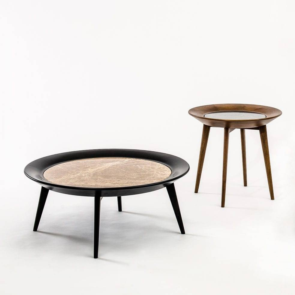 Contemporary Coffee Table / Wooden / Marble / Round - Iris within Marble Round Coffee Tables (Image 16 of 30)