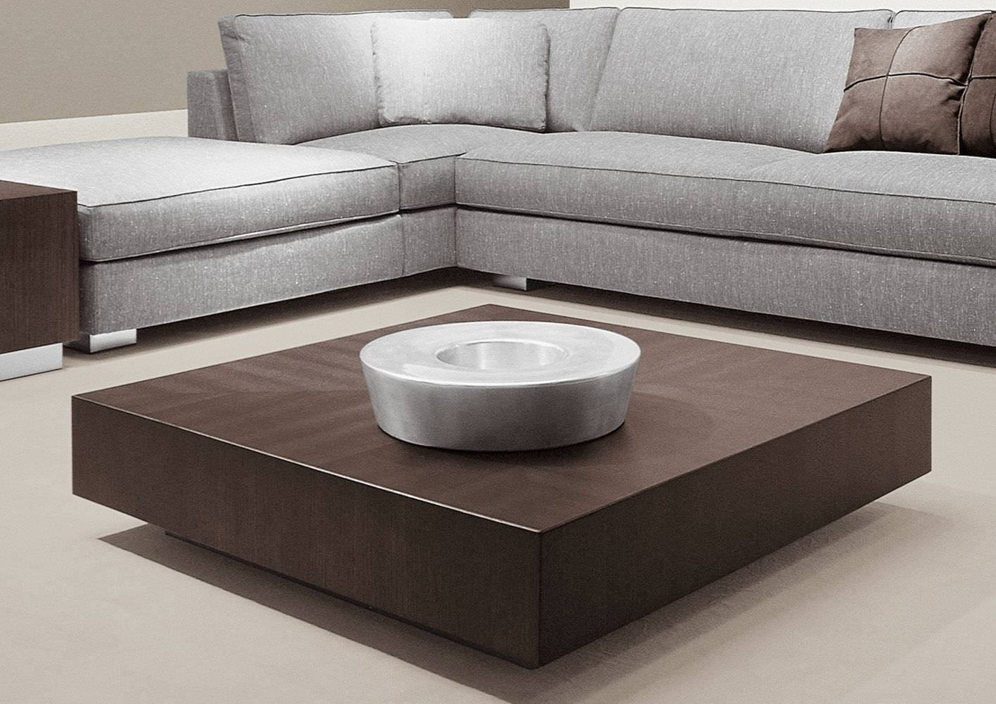 Contemporary Coffee Table / Wooden / Steel / Square - Life inside Square Low Coffee Tables (Image 3 of 20)