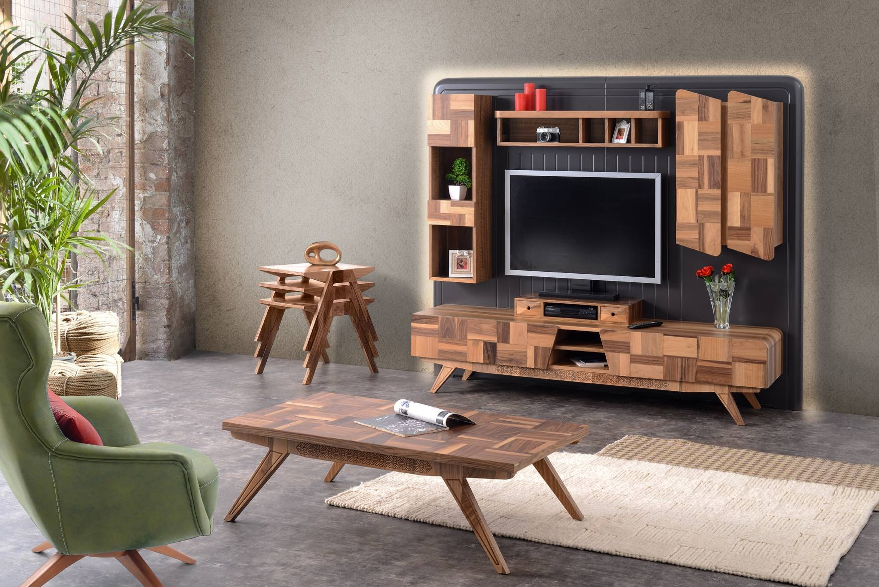 Contemporary Entertainment Sets & Tv Standshome Designer Goods in Coffee Table and Tv Unit Sets (Image 14 of 30)