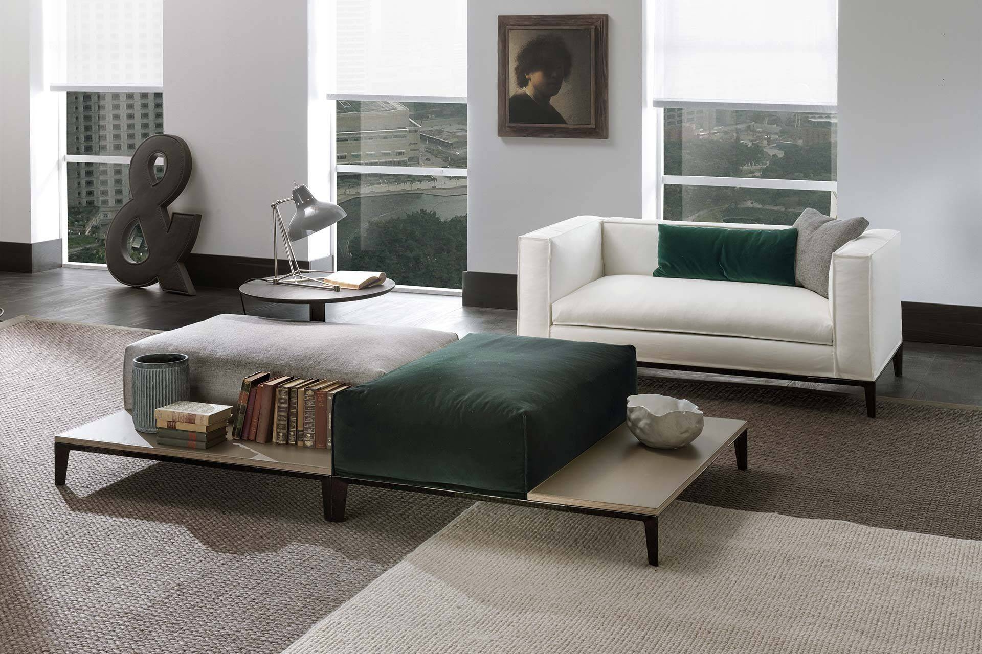 Contemporary Footrest / Fabric / Leather / Wooden - Taylor with regard to Coffee Table Footrests (Image 15 of 30)