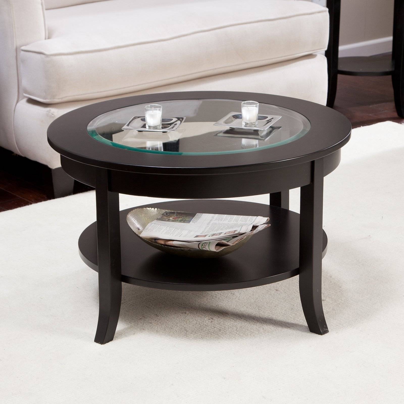 Contemporary Glass Top Coffee Tables Tables Chairs Oval Glass for Dark Wood Coffee Tables With Glass Top (Image 11 of 30)