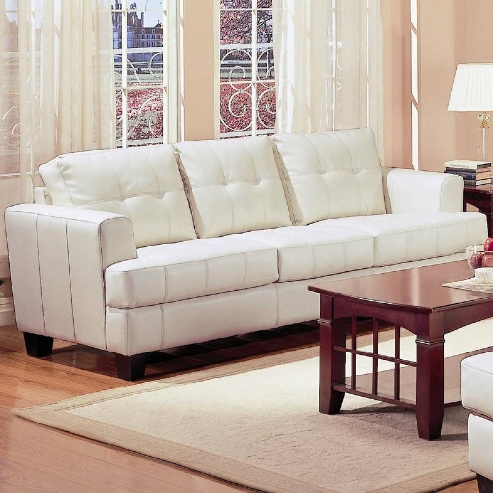 Contemporary Leather Sofa inside Ivory Leather Sofas (Image 6 of 30)