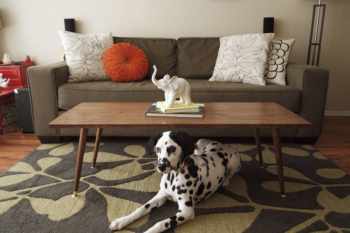 Contemporary Living Room With Mid Century Modern Coffee Table, And pertaining to Elephant Coffee Tables (Image 14 of 30)