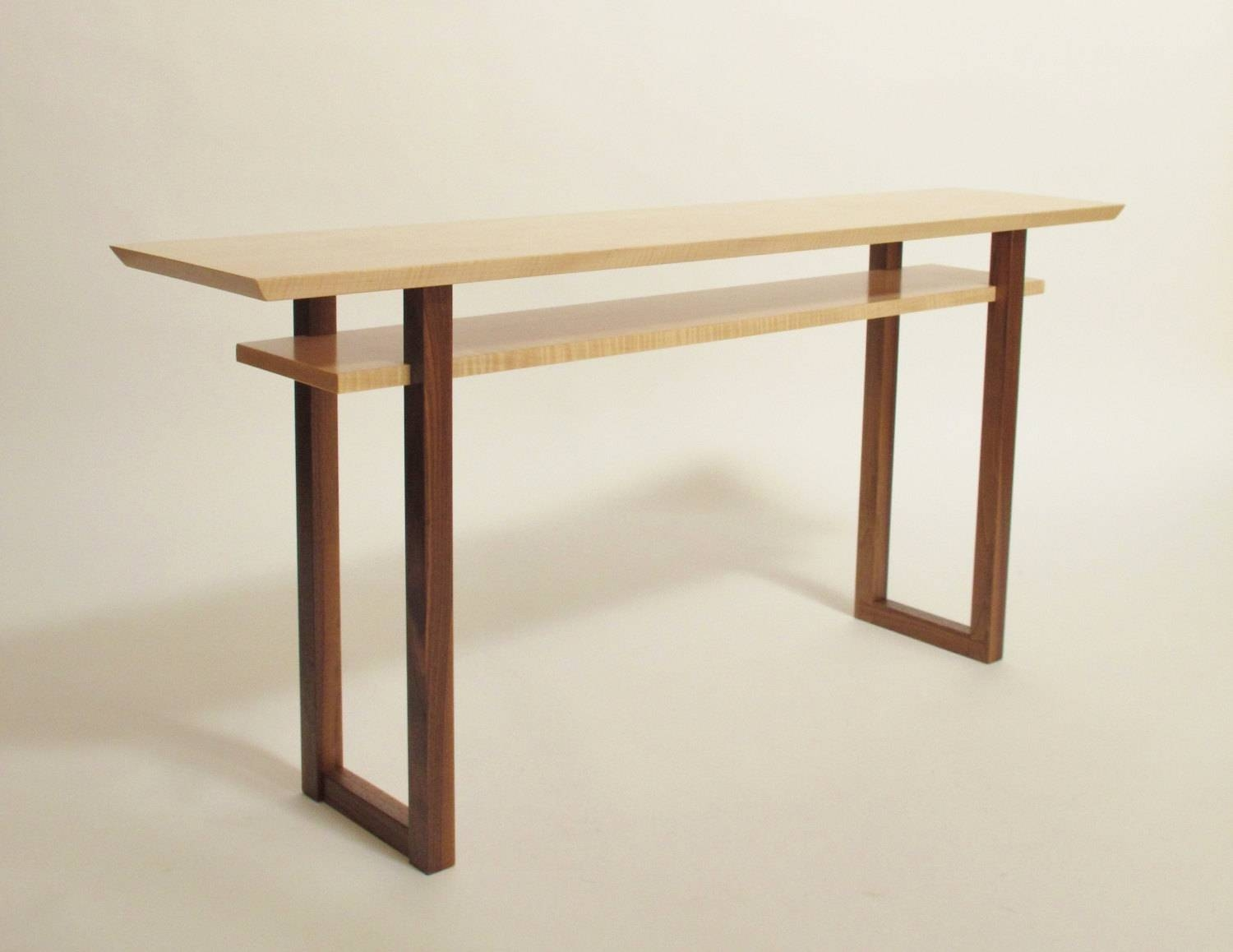 Contemporary Long Low Console Table: Narrow Sofa Table Mid throughout Low Sofa Tables (Image 8 of 30)
