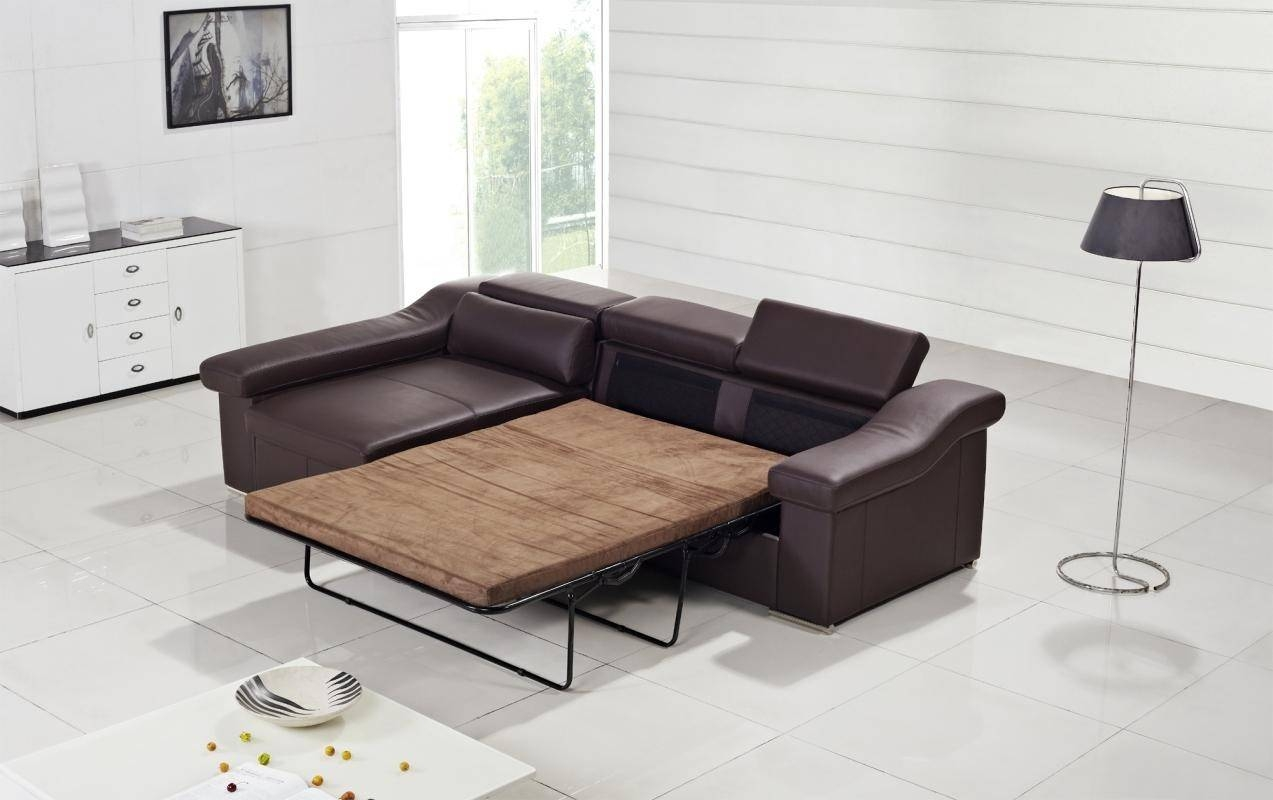 Contemporary & Luxury Furniture; Living Room, Bedroom,la Furniture for Leather Sofa Beds With Storage (Image 4 of 30)