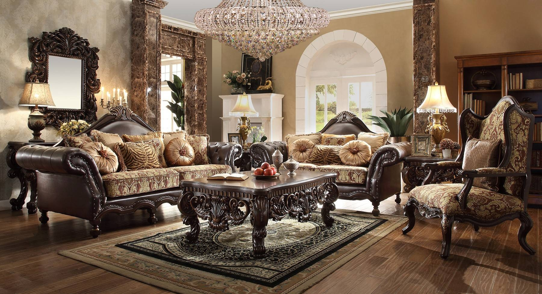 Contemporary & Luxury Furniture; Living Room, Bedroom,la Furniture in Traditional Fabric Sofas (Image 7 of 30)
