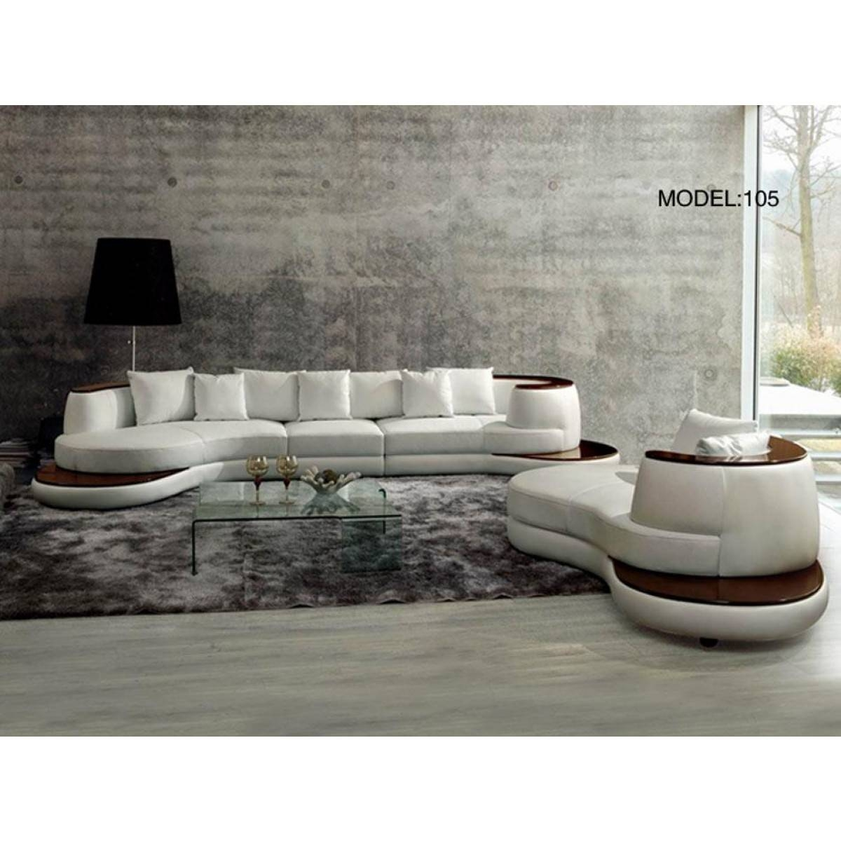 Contemporary & Luxury Furniture; Living Room, Bedroom,la Furniture throughout Rounded Sofa (Image 2 of 25)