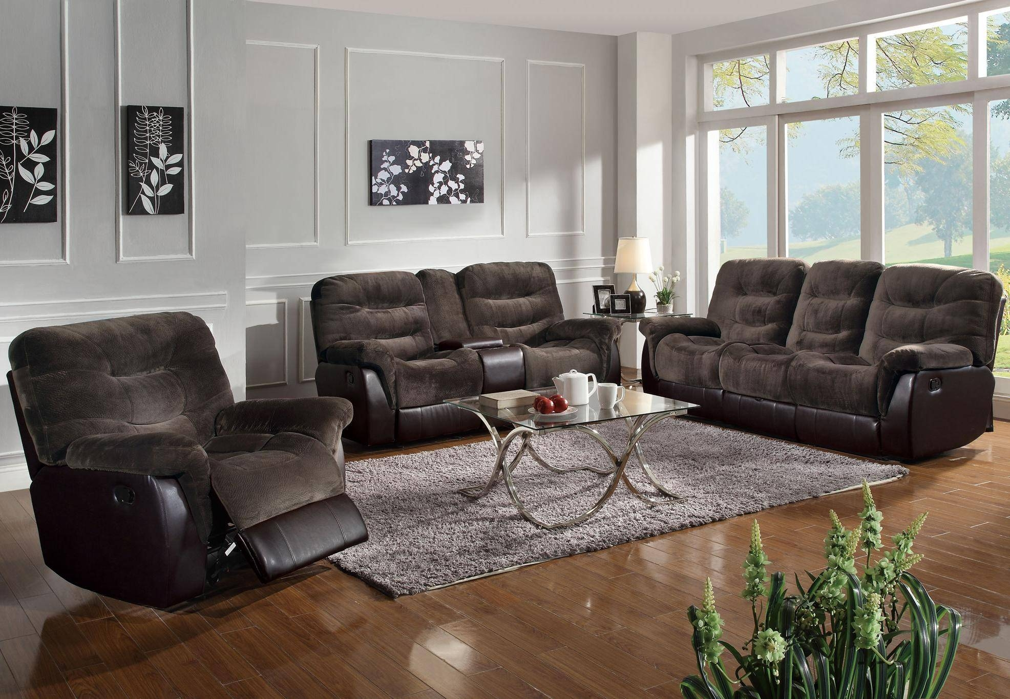 Contemporary Reclining Sofa | Sofa Gallery | Kengire With Sectional Sofas For Small Spaces With Recliners (View 3 of 30)