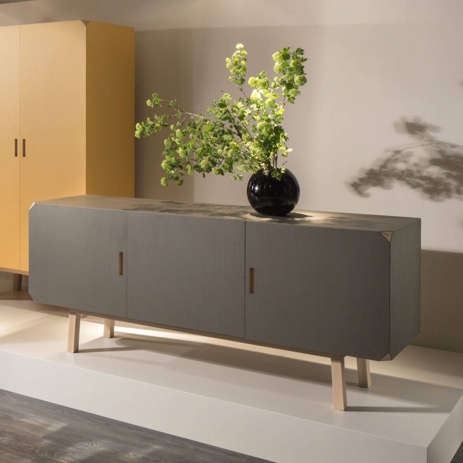 Contemporary Sideboard / Beech / Gray - Cartalegnogiulio with Beech Sideboards (Image 11 of 30)