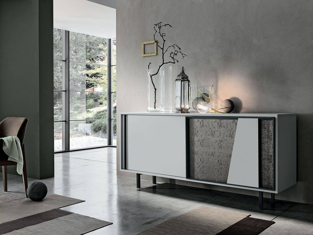 Contemporary Sideboard / Iron / Painted Metal / Laminate - Modus intended for Metal Sideboards (Image 6 of 30)