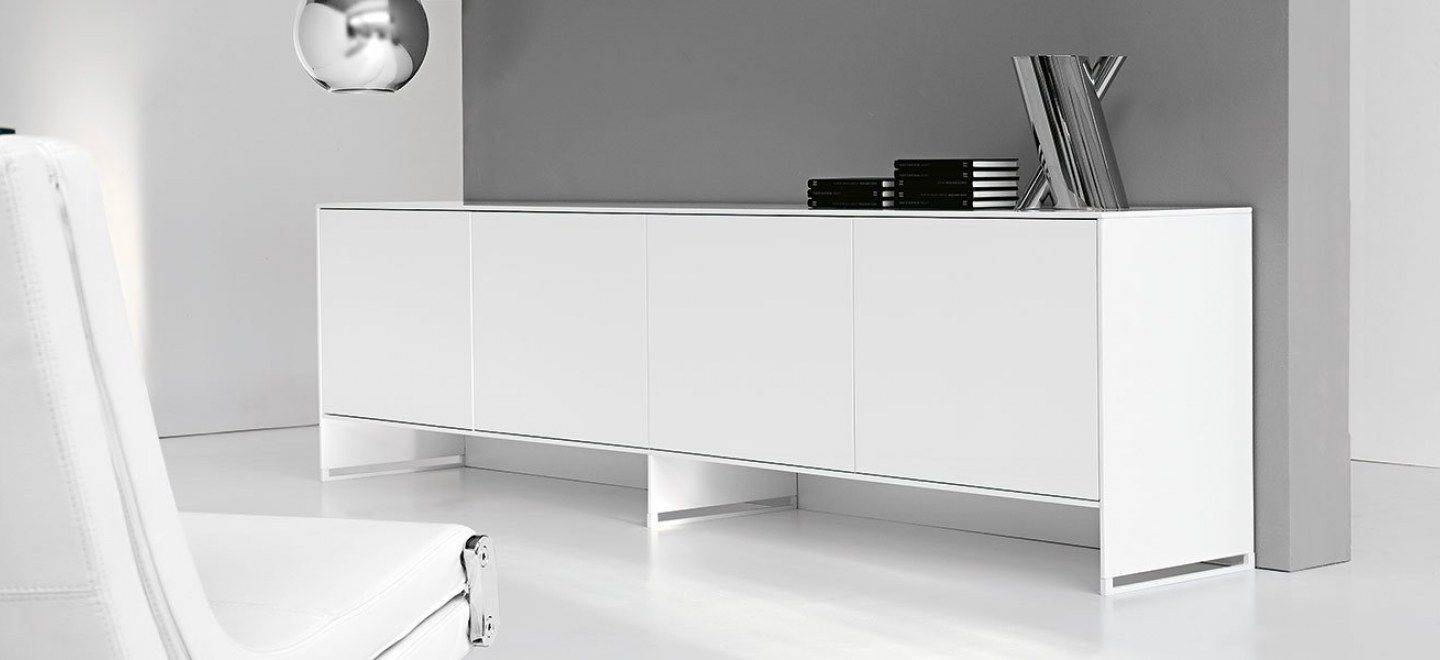 Contemporary Sideboard / Lacquered Wood / Oak / Walnut - Oasis intended for Contemporary White Sideboards (Image 7 of 30)