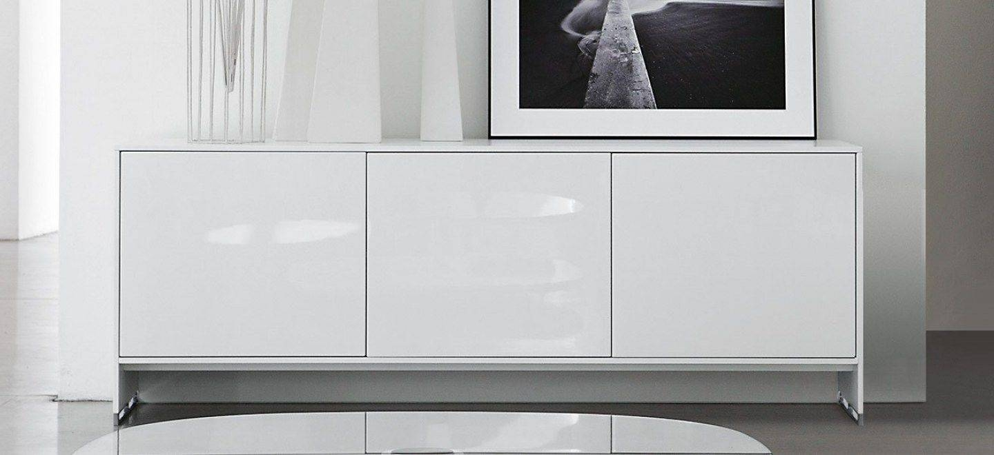 Contemporary Sideboard / Lacquered Wood / Oak / Walnut - Oasis pertaining to Contemporary White Sideboards (Image 8 of 30)