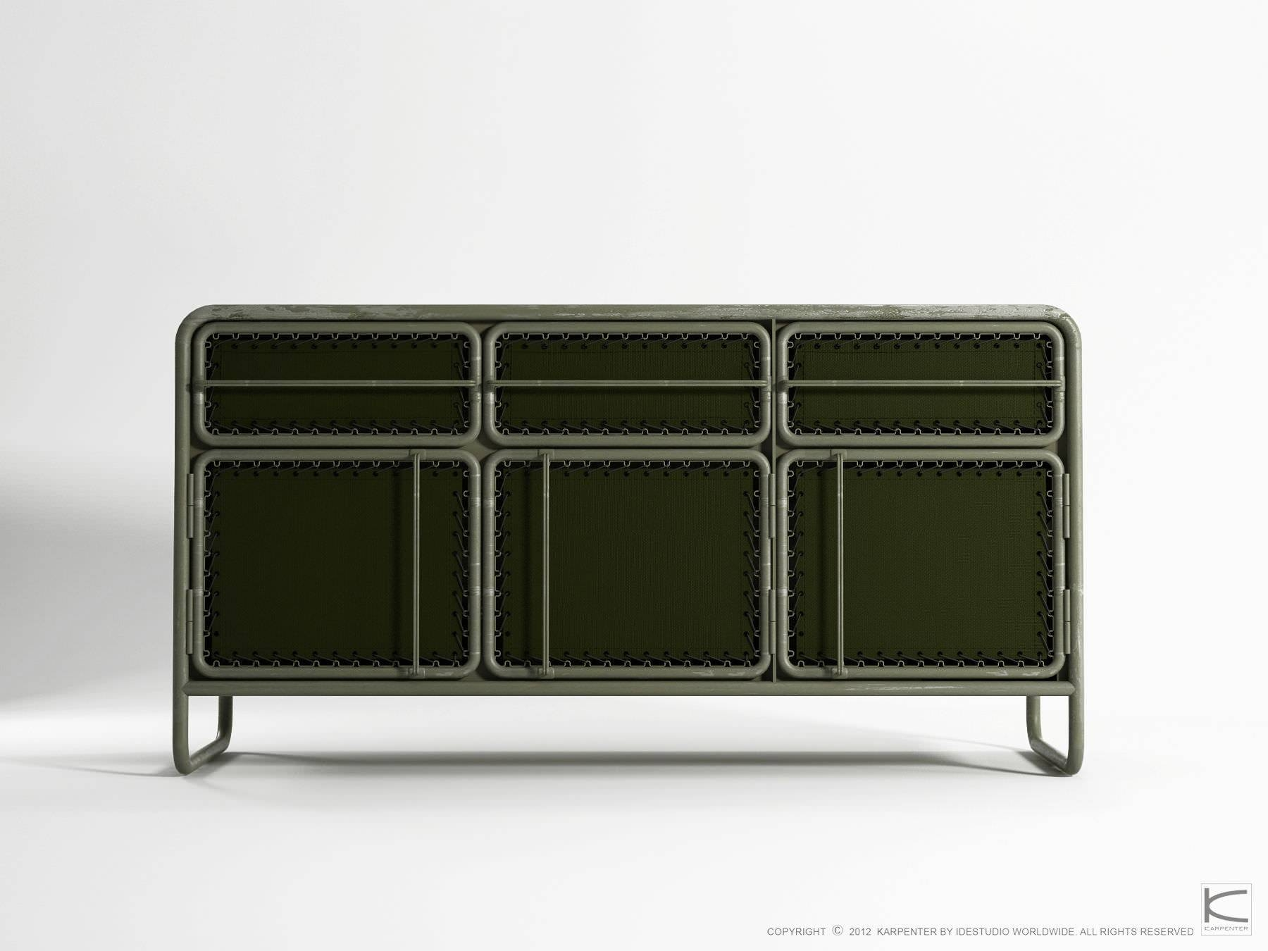 Contemporary Sideboard / Metal / Recycled - Ds07 - Karpenter for Metal Sideboards (Image 7 of 30)