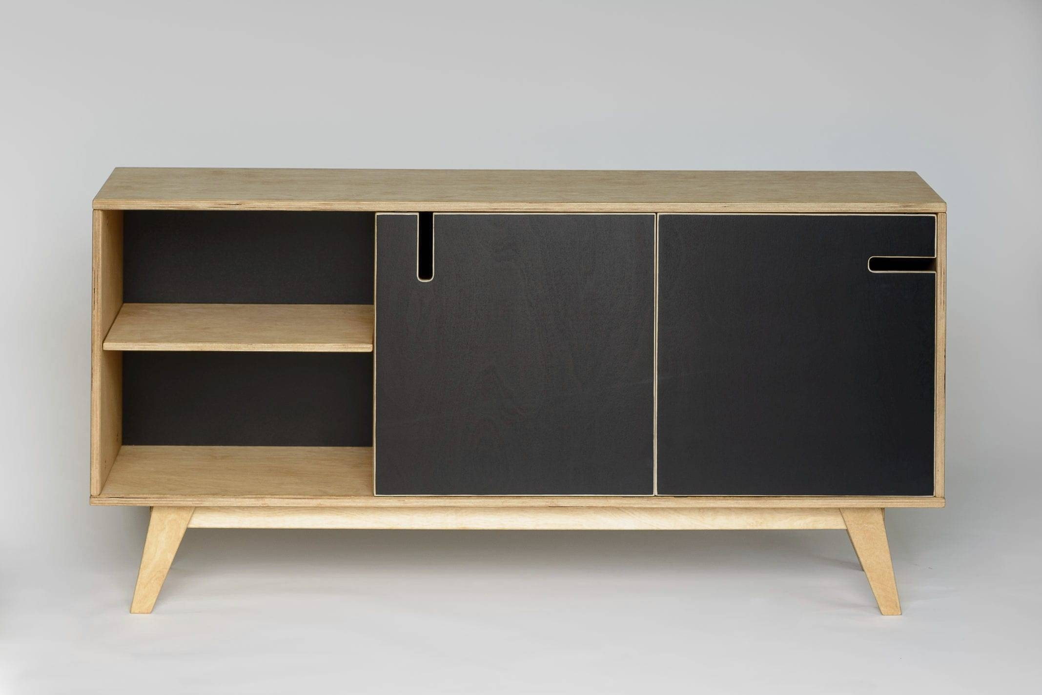 Contemporary Sideboard / Oak / Walnut / Birch - Huhraul Abner in Black And Walnut Sideboards (Image 9 of 30)