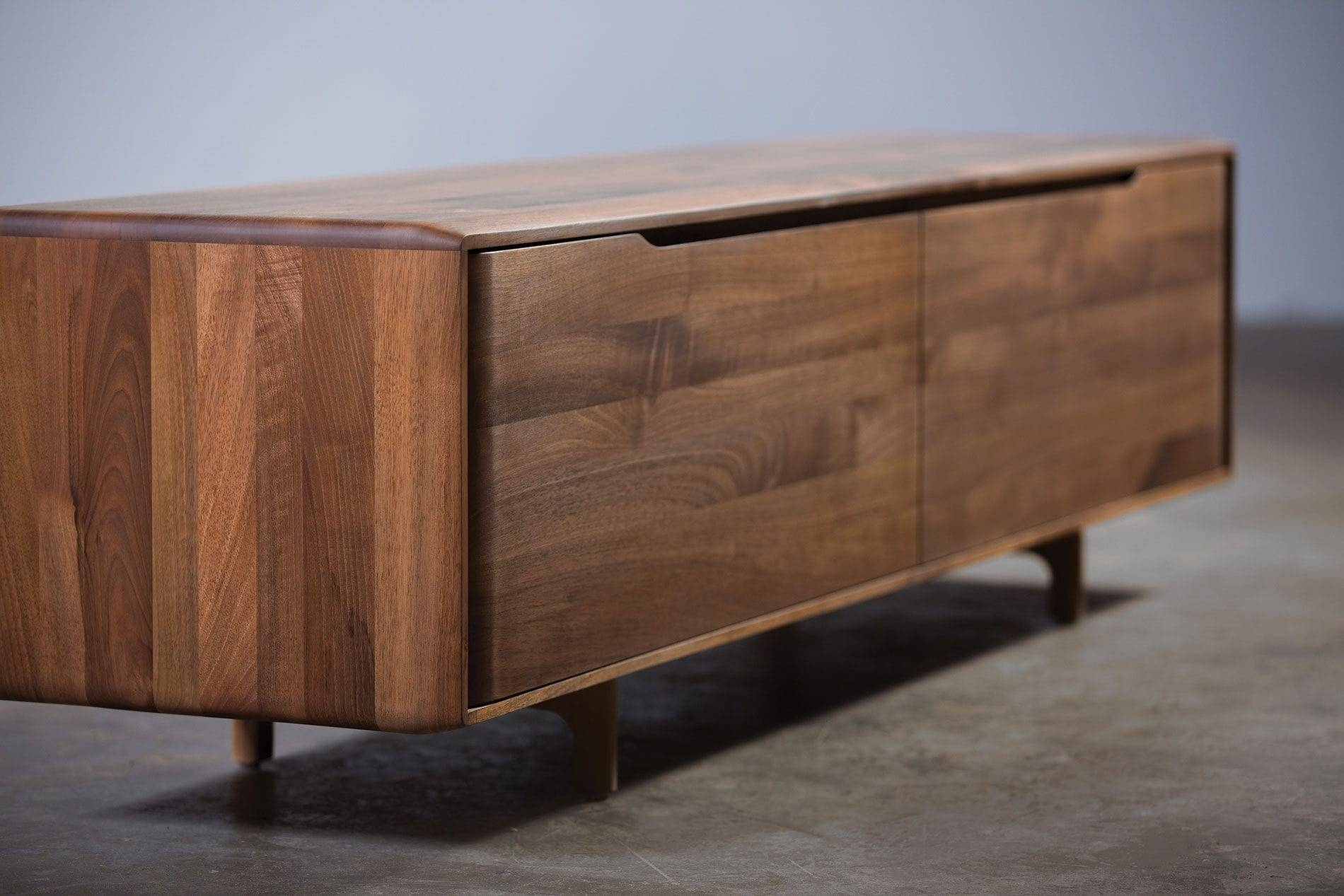 Contemporary Sideboard / Oak / Walnut / Solid Wood - Invito inside Small Dark Wood Sideboards (Image 3 of 30)