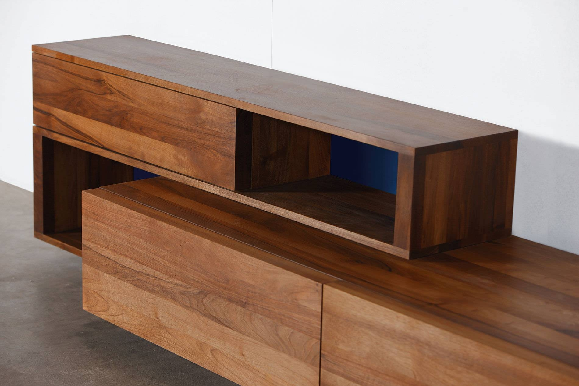 Contemporary Sideboard / Oak / Walnut / Solid Wood - Log regarding Contemporary Wood Sideboards (Image 5 of 30)